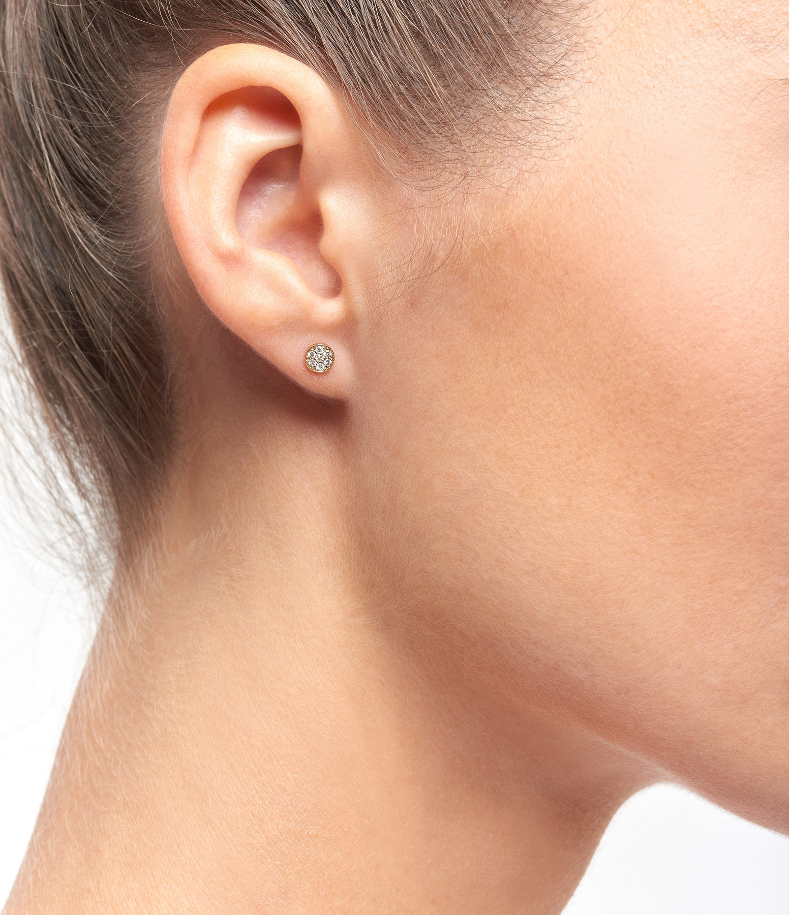Boucles d'oreilles Puce Diamants - GIGI CLOZEAU