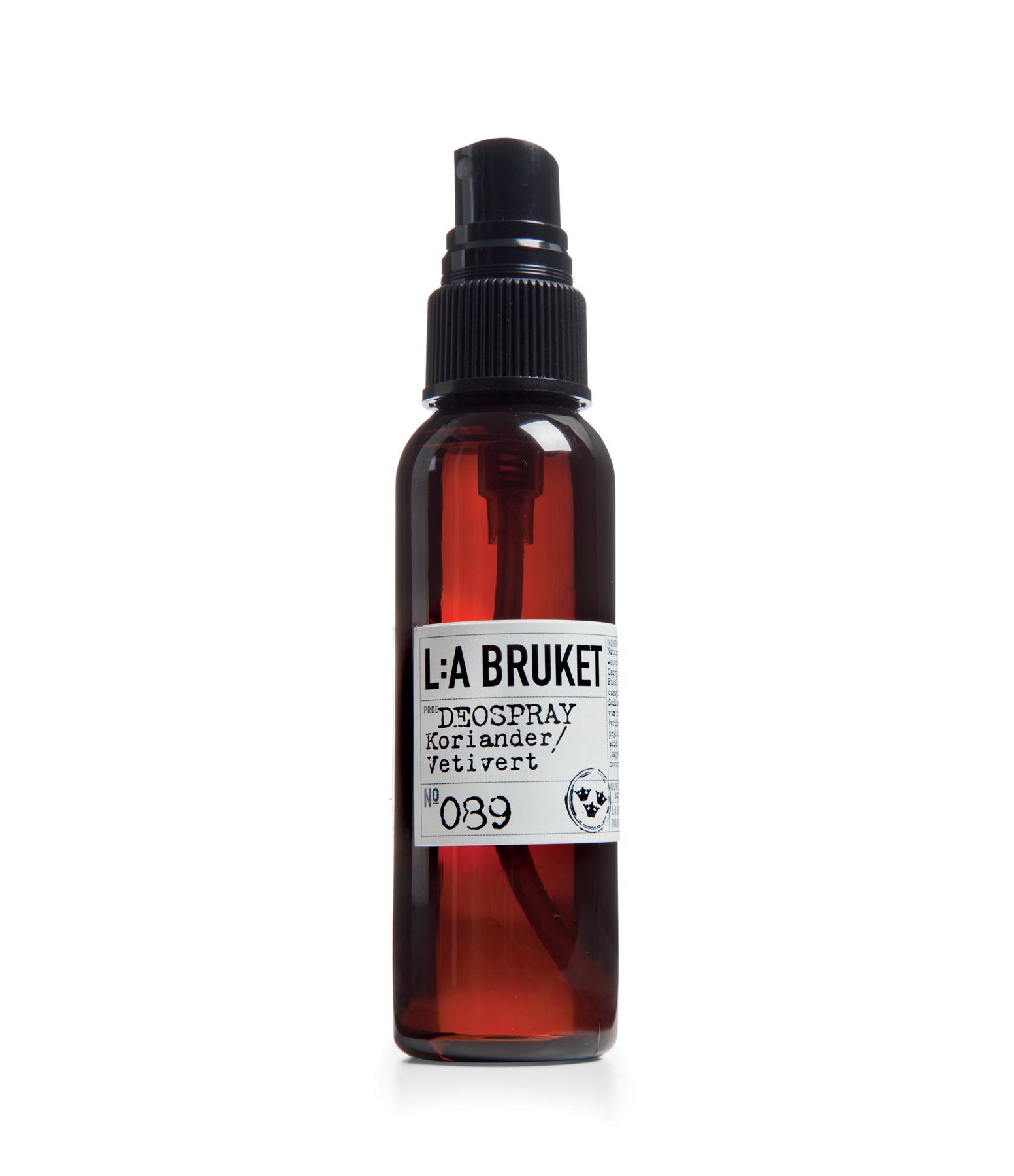 L:A BRUKET - Déodorant Coriandre Vetiver 60ml N°089