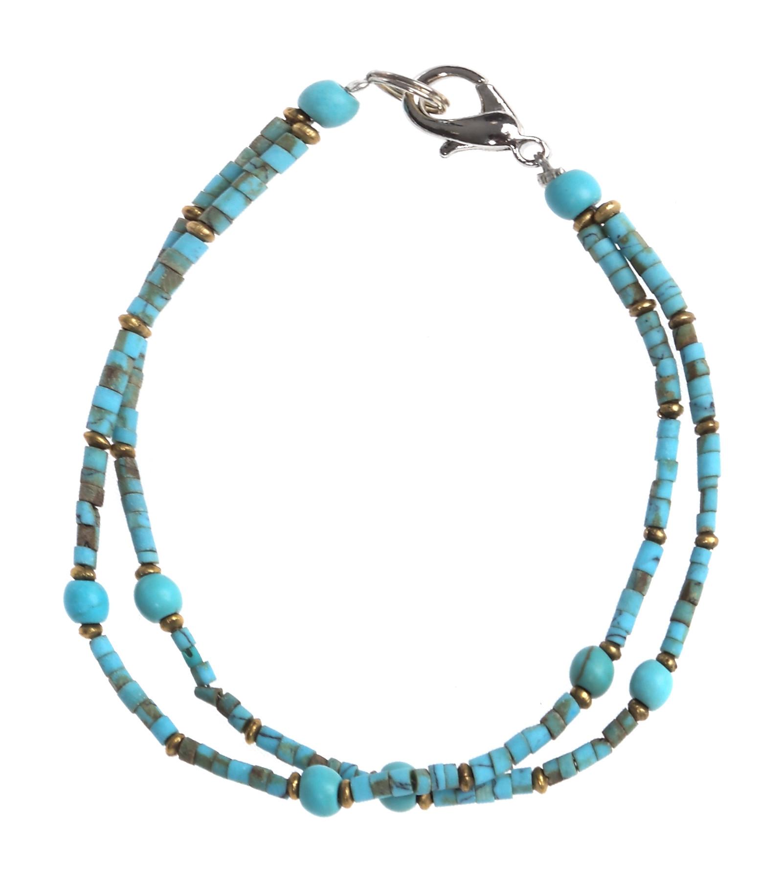 Bracelet 2 Rangs Turquoise - HAKIMY