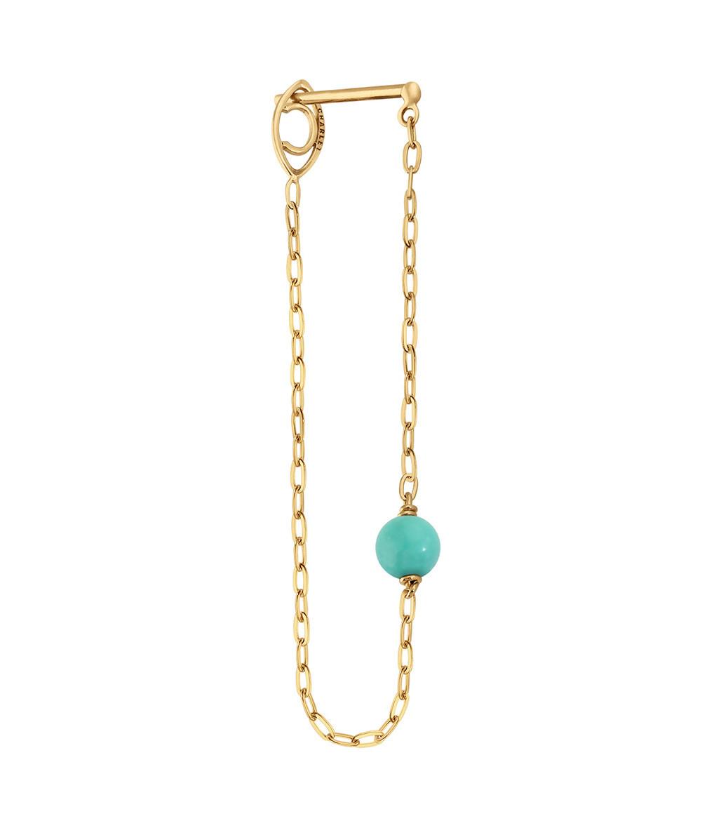 CHARLET - Boucle d'oreille Massilia Turquoise (vendue à l'unité)