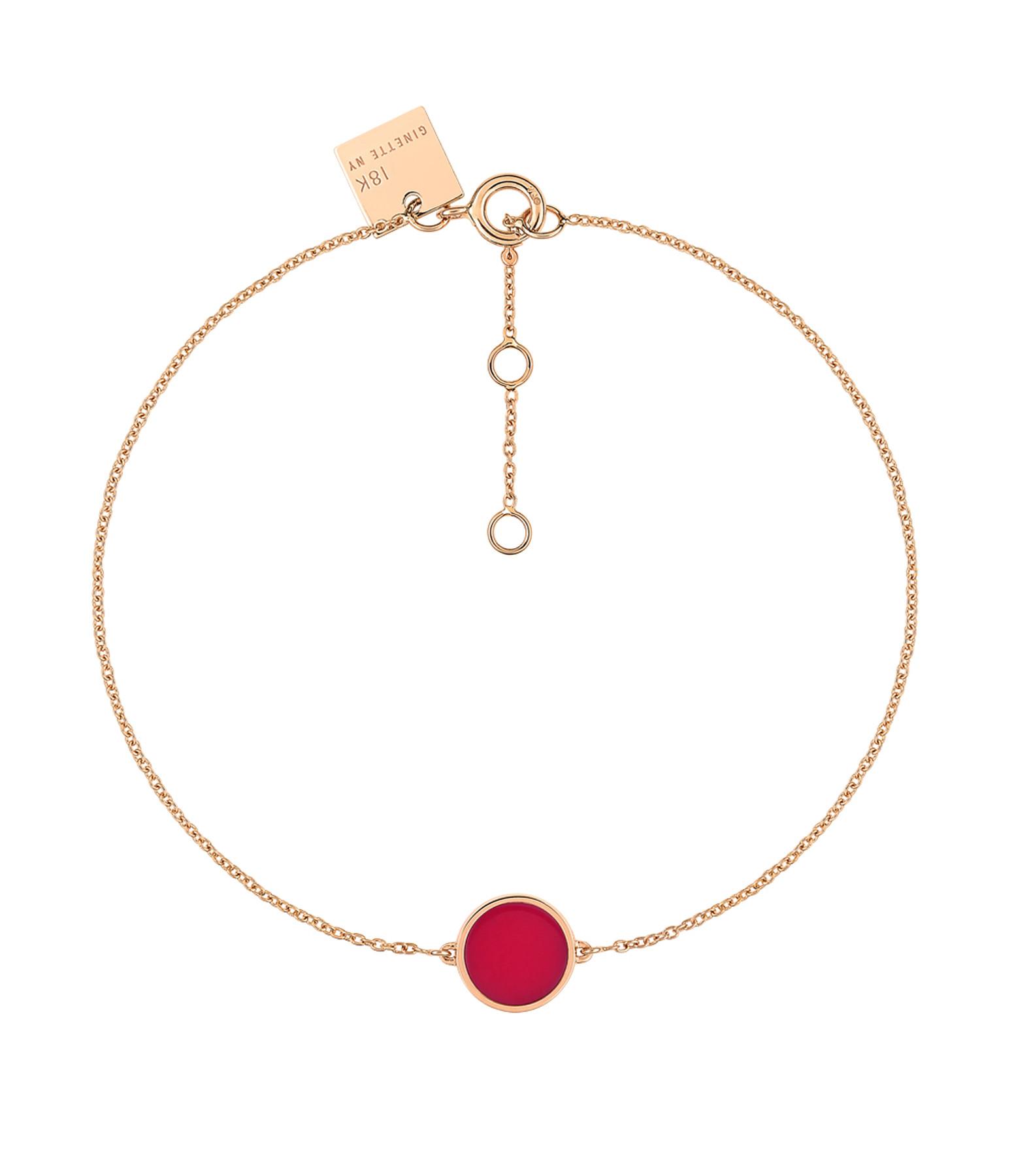 GINETTE NY - Bracelet Ever Mini Disc Or Rose Corail