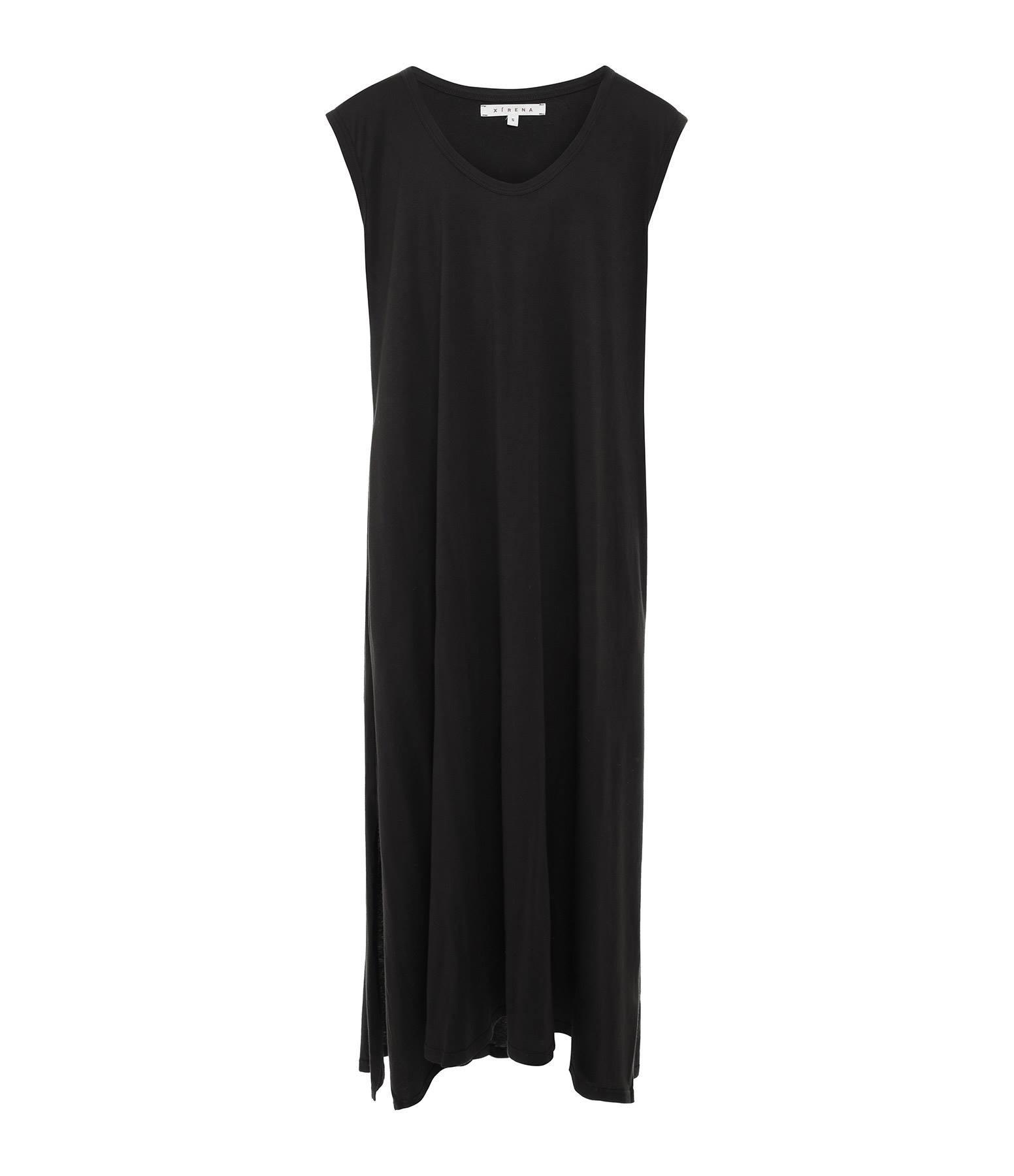 XIRENA - Robe Elodie Coton Malibu Noir