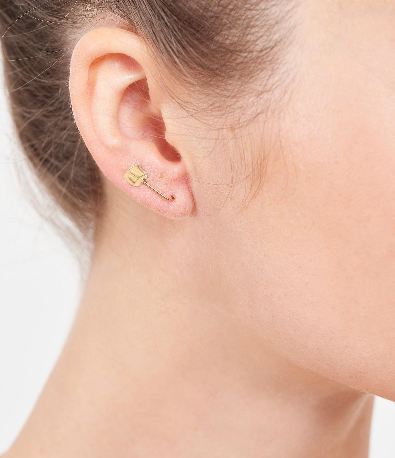 LSONGE - Boucle d'oreille Sublime Pépite Or (vendue à l'unité)