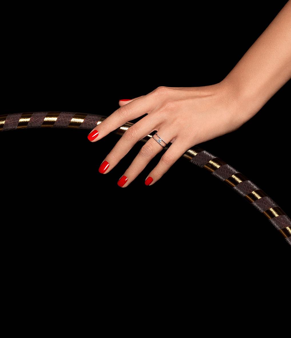 LA BRUNE & LA BLONDE - Bague Hula Hoop Diamant 0,20 Or Rose