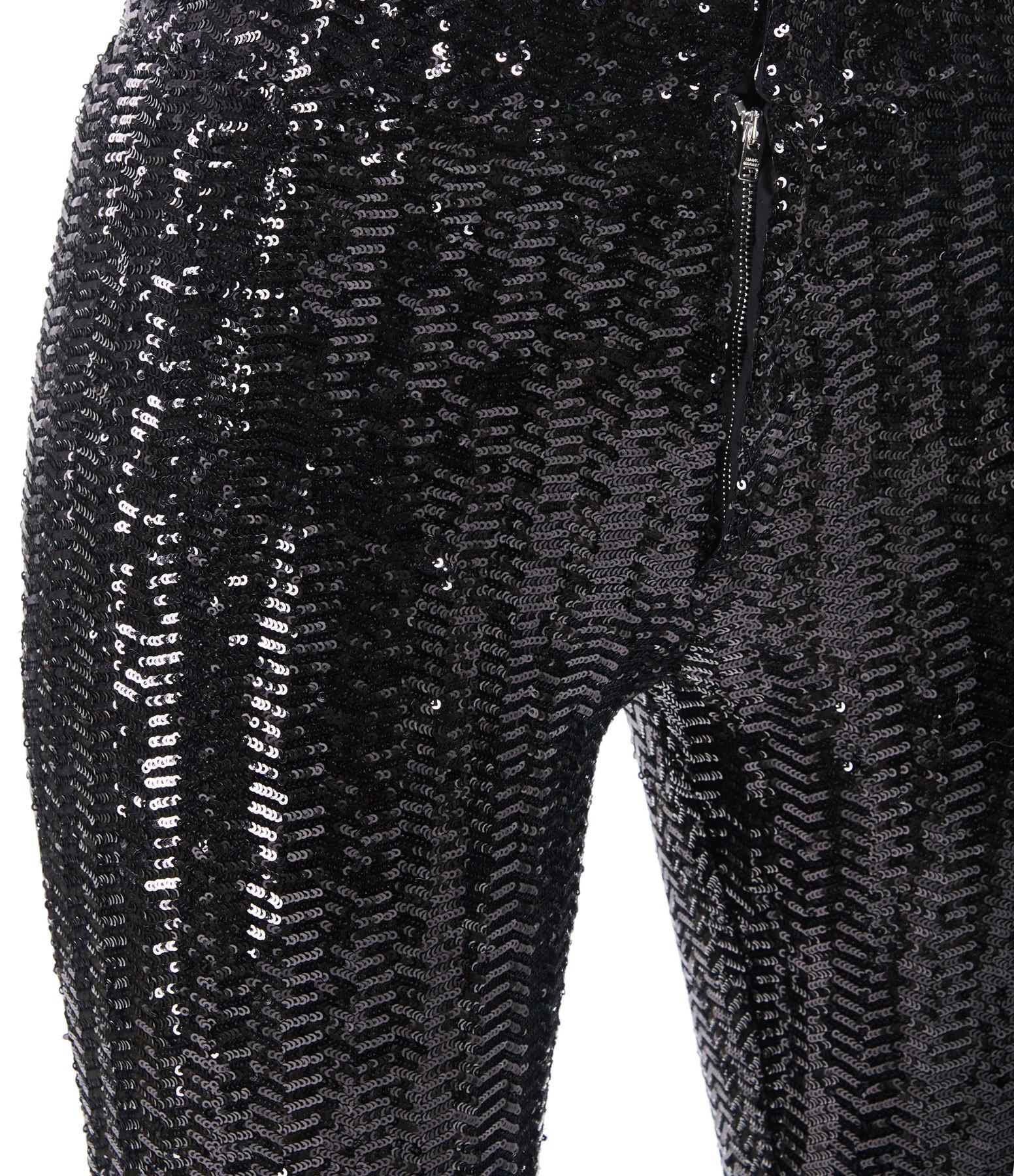 ISABEL MARANT - Pantalon Todiz Noir Métallisé