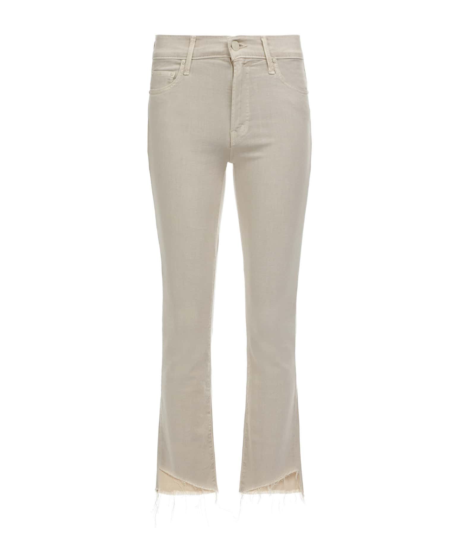 MOTHER - Jean The Insider Crop Step Fray Toasted Ivory