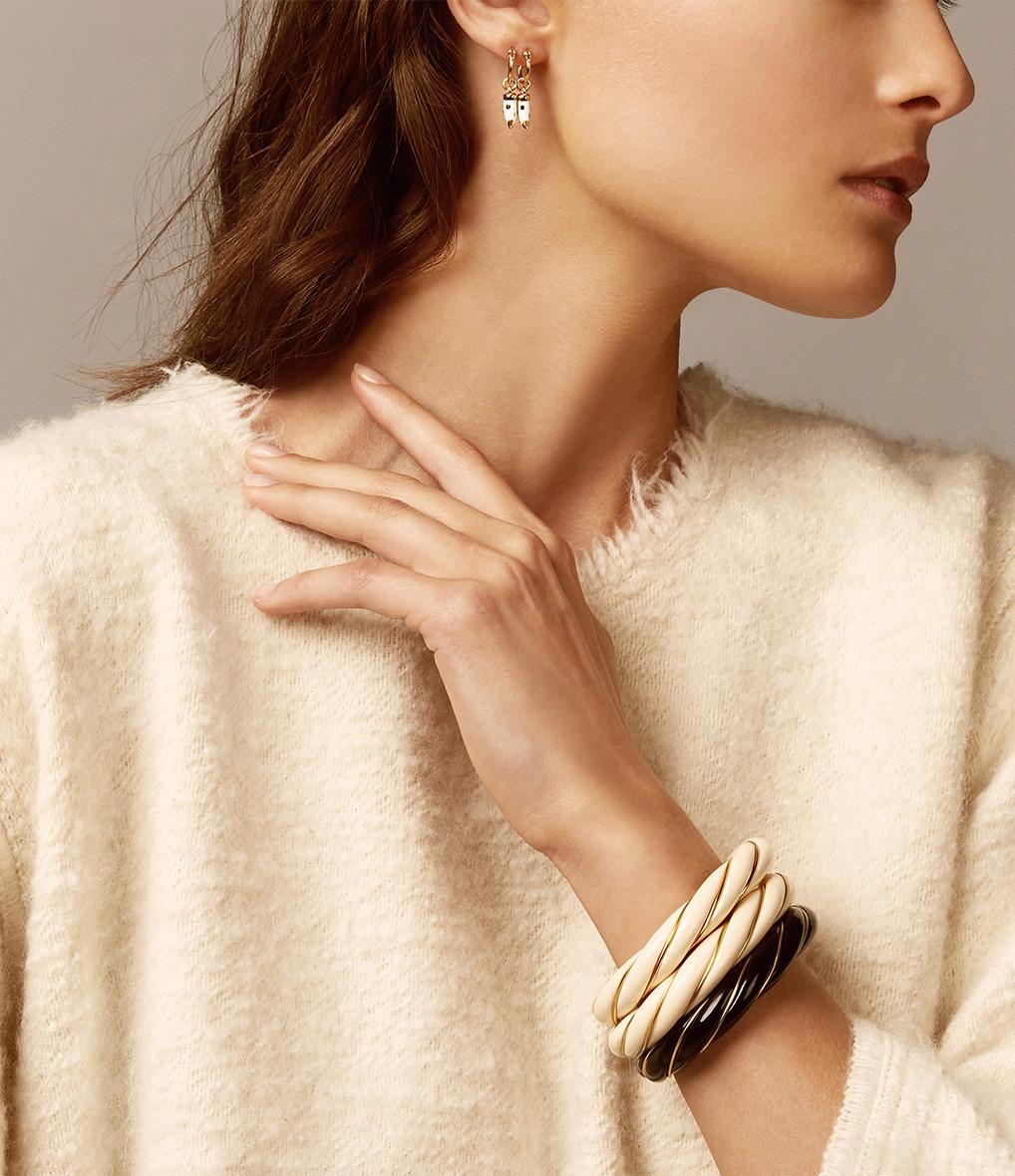 Bracelet Diana Torsadé Noir - AURELIE BIDERMANN