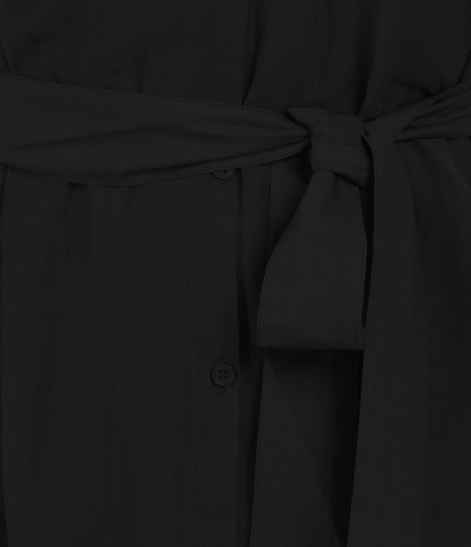 BELLE PIÈCE - Robe Richard Soie Coton Noir