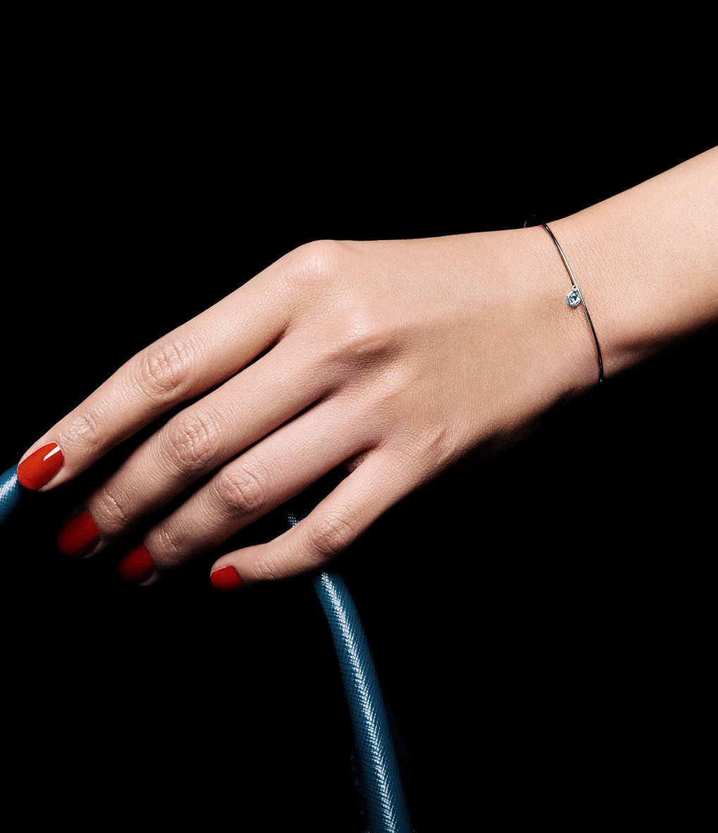LA BRUNE & LA BLONDE - Jonc 360° Diamant Brillant 0,07 Or Jaune