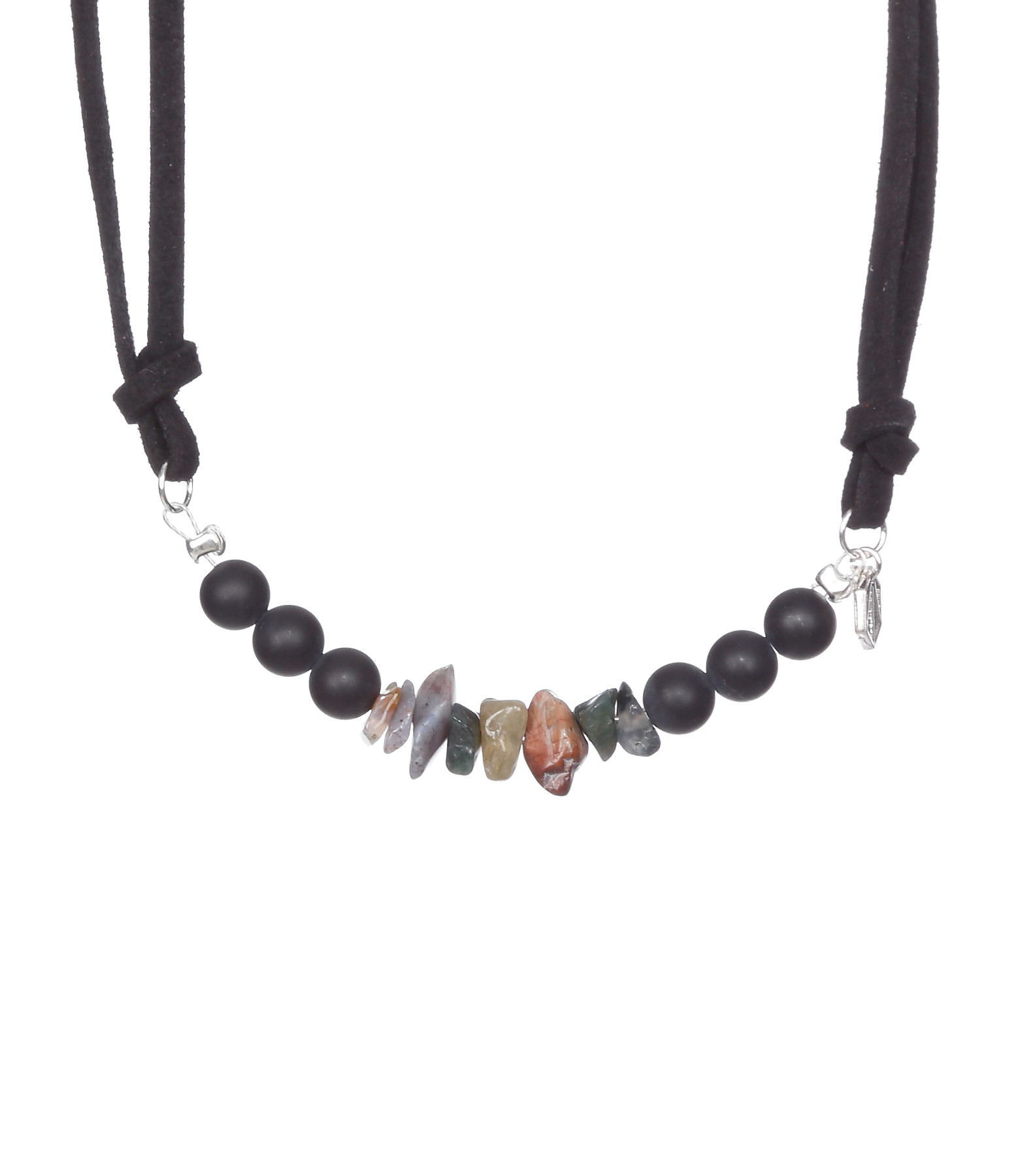 Bracelet Cuir The Pass Noir Onyx Nugget Agathe - SISTERSTONE