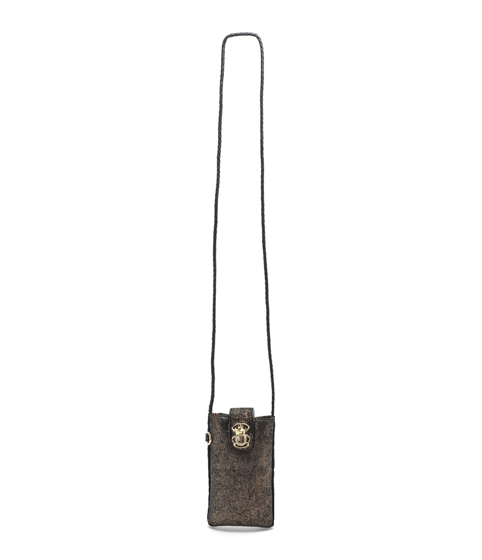 CLARIS VIROT - Étui à Téléphone Marcus Cuir Bronze, Collaboration Claris Virot x Veronika Loubry