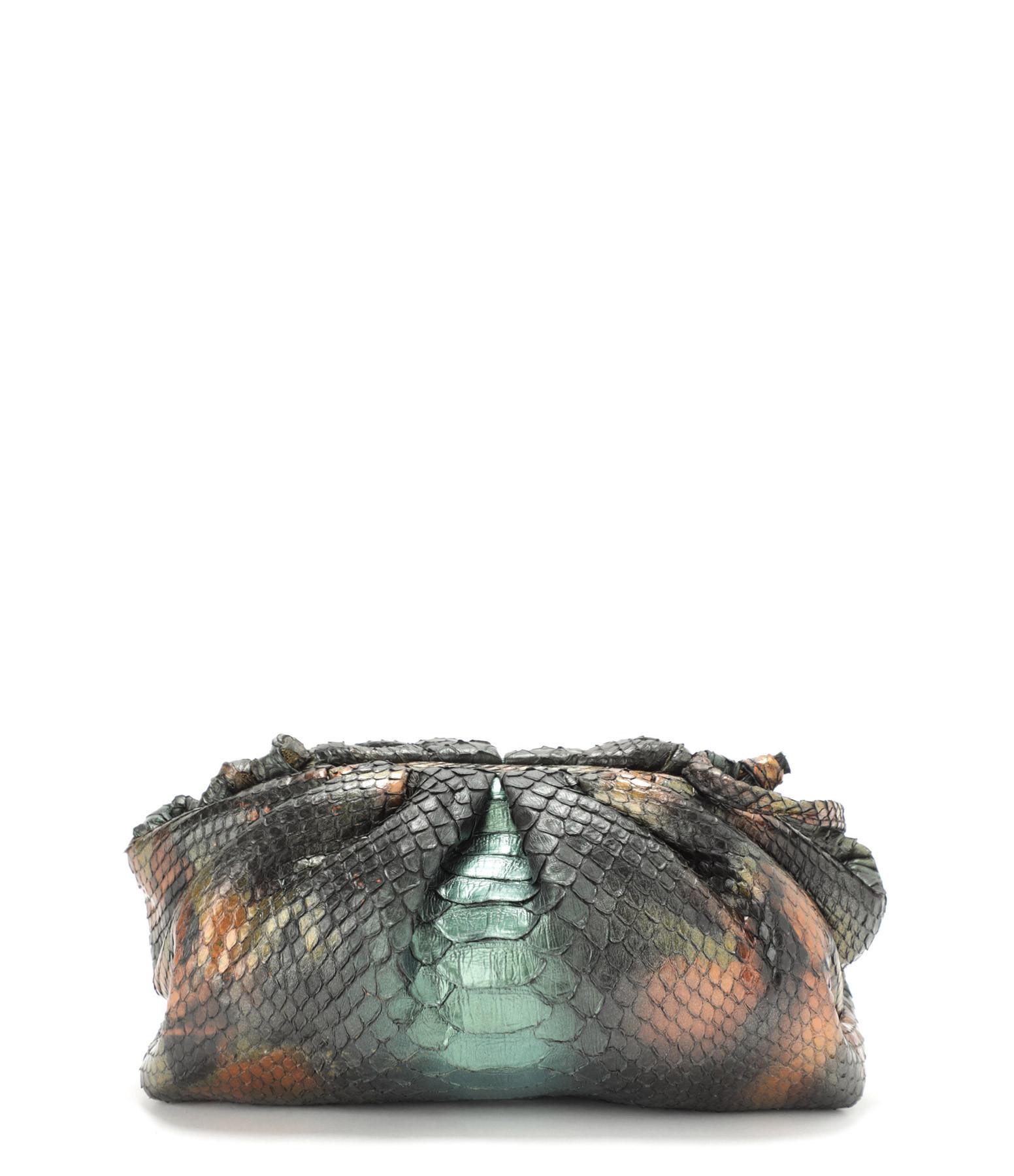 SISTA - Sac Baby Cuir Souple Python Multicolore