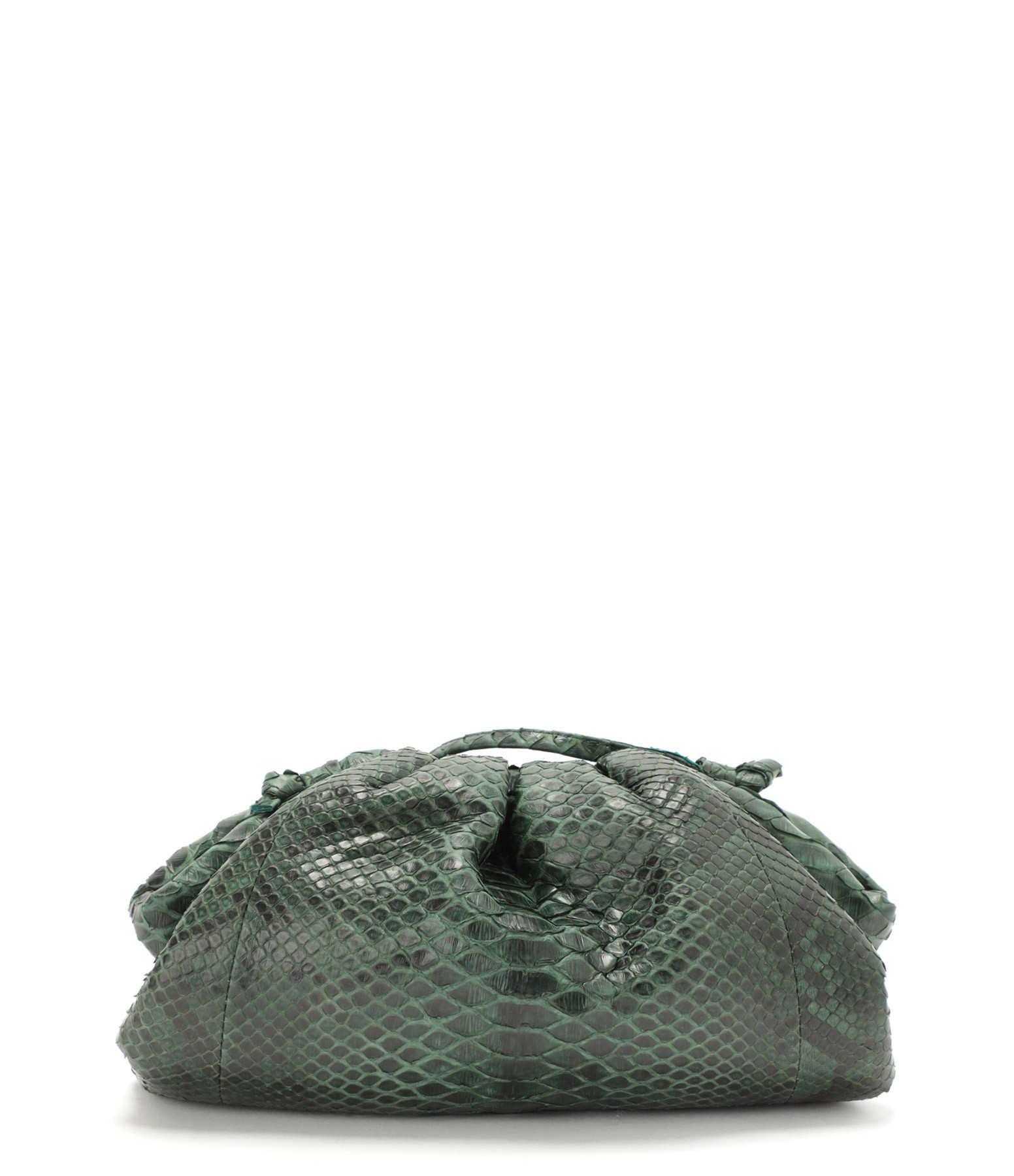 SISTA - Sac Baby Cuir Souple Python Vert