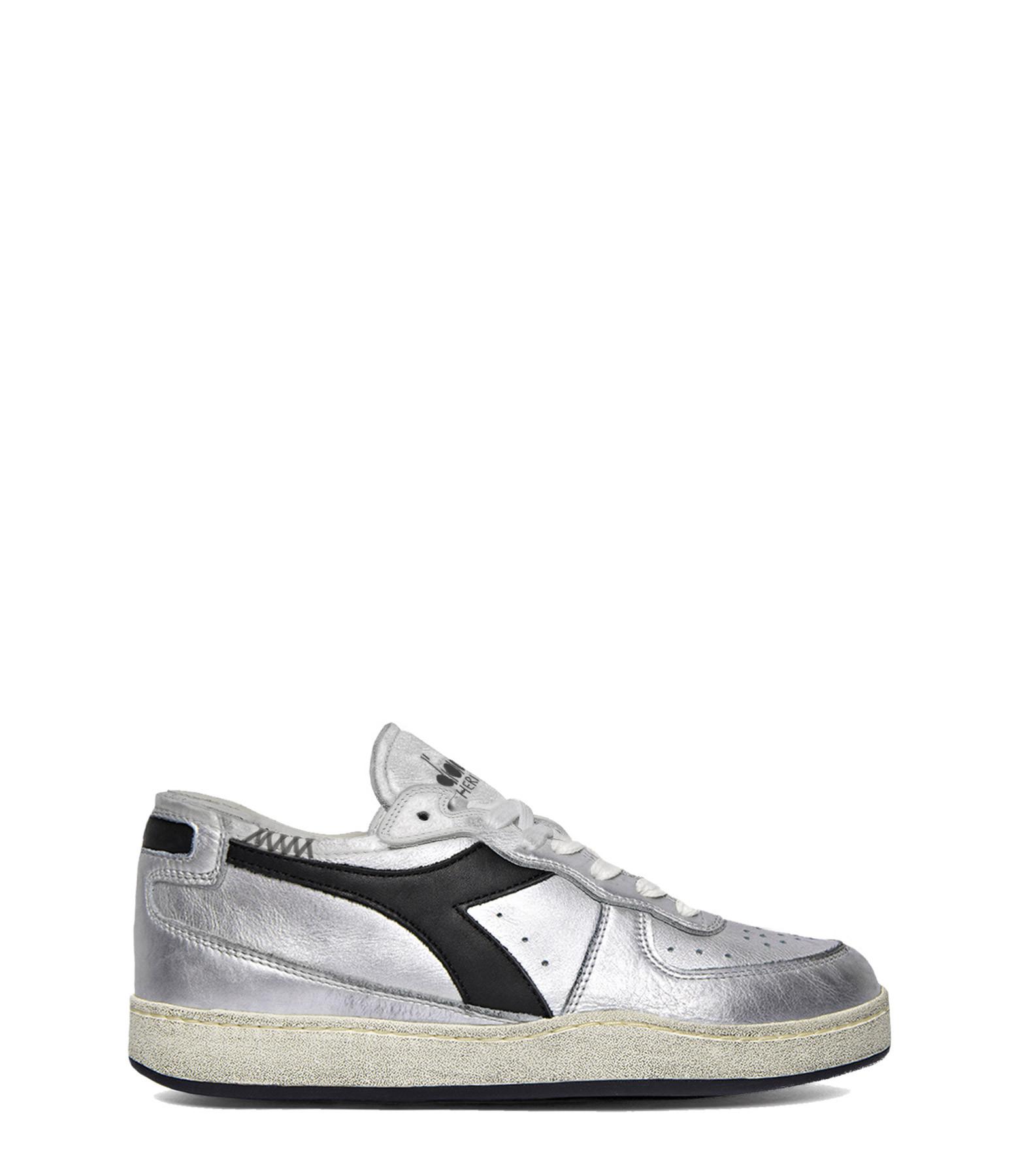 DIADORA - Baskets Mi Basket Row Cut Silver Used W Argent