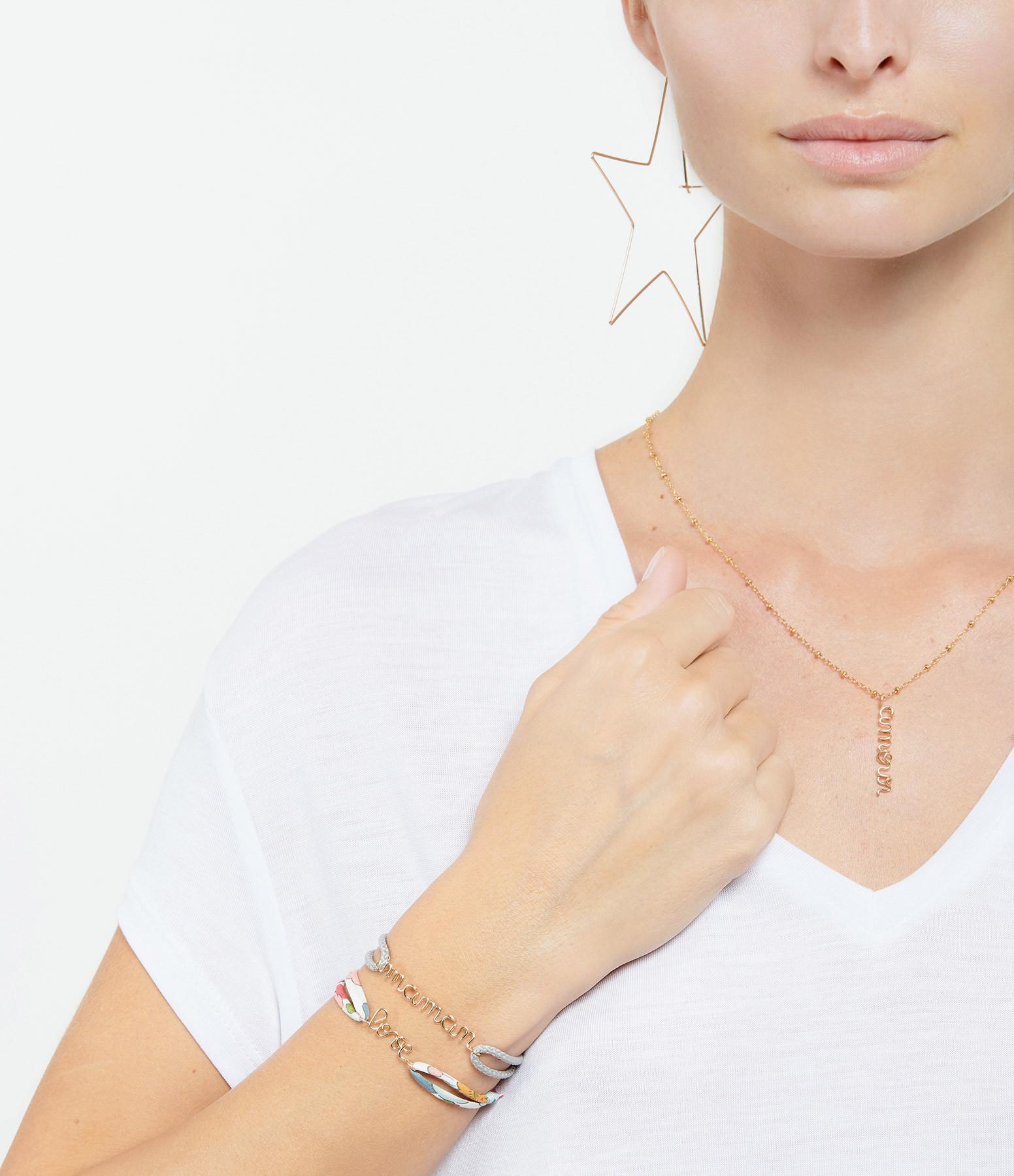 ATELIER PAULIN - Bracelet Cordon Ciré Maman Gold Filled