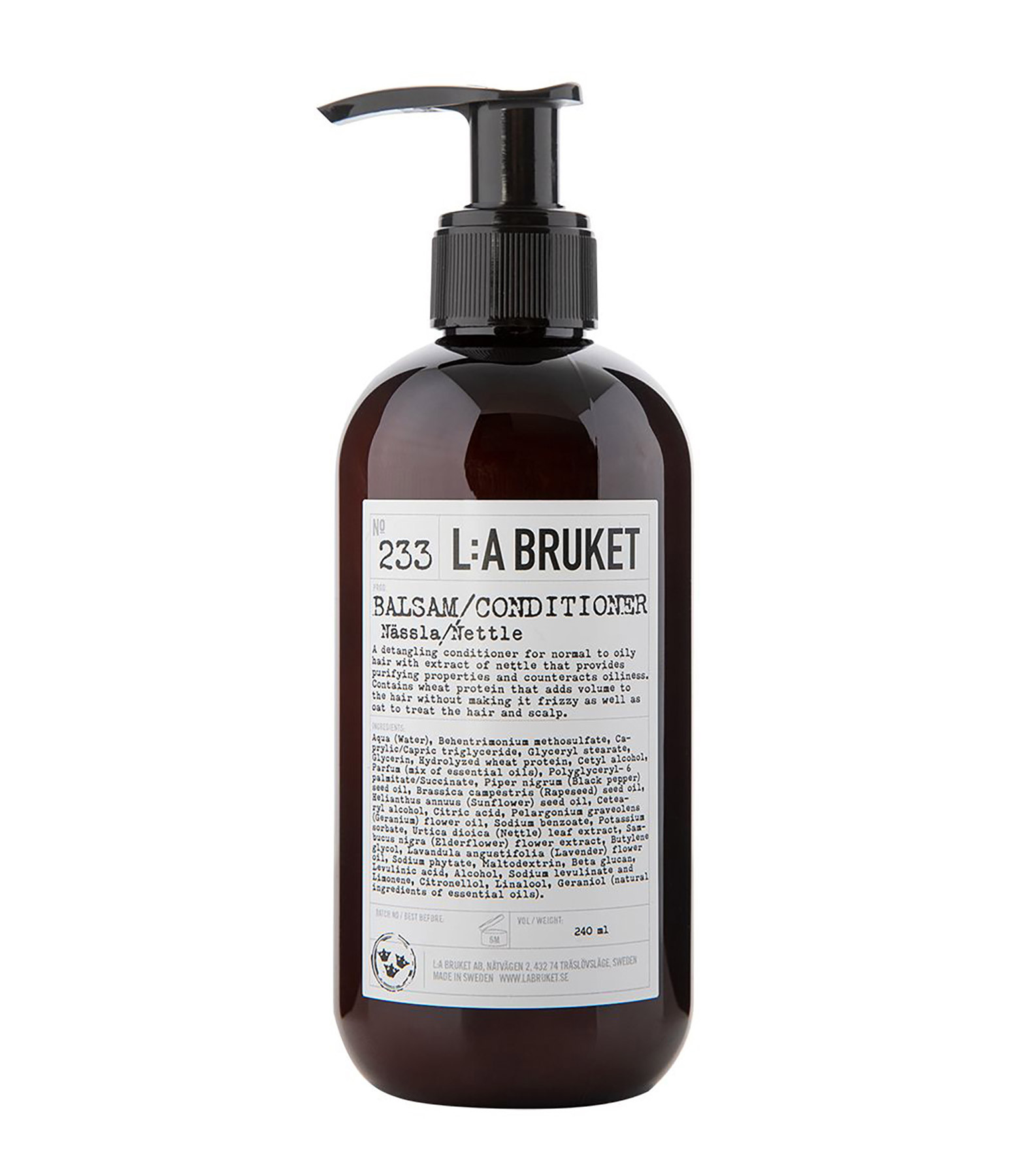 L:A BRUKET - Après-Shampoing Orties 240 ml N°233