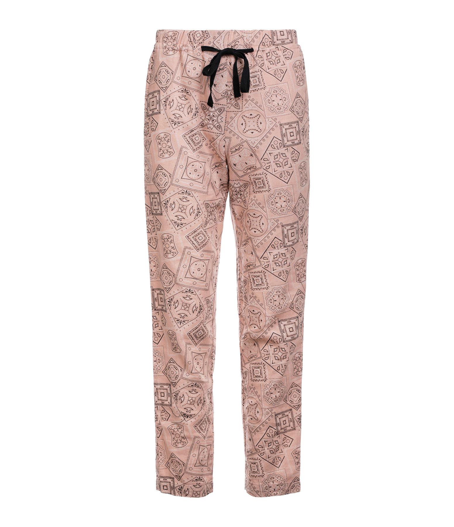 OVERLOVER - Pantalon Yucca Lin Coton Bandana Powder Imprimé