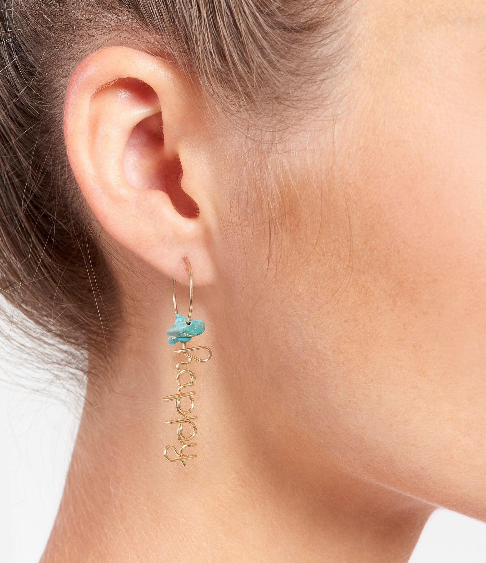 ATELIER PAULIN - Mini Créoles Happy Gold Filled Turquoise
