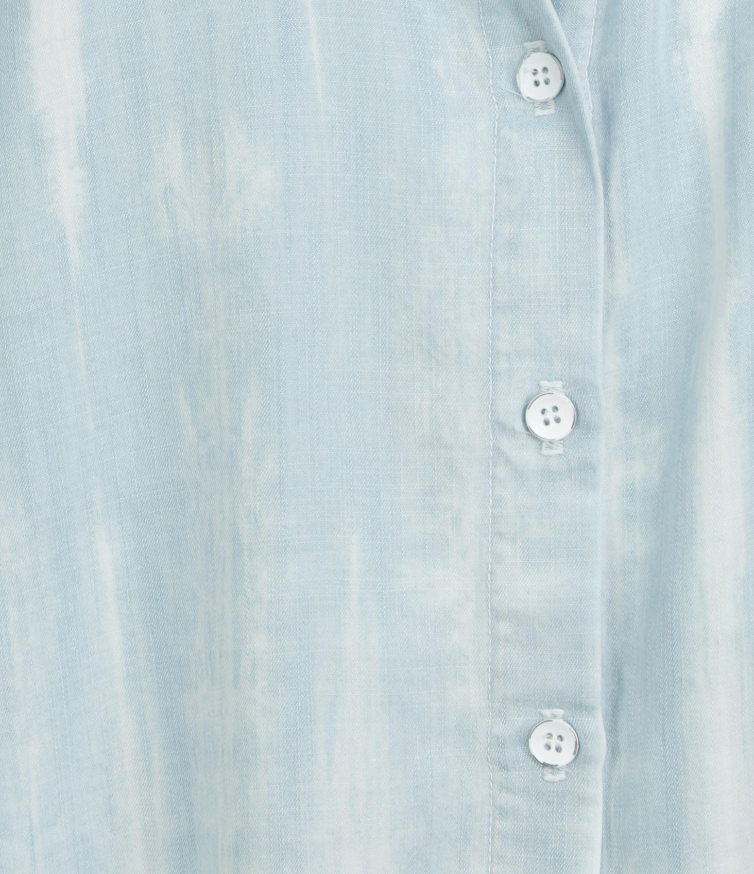 BELLA DAHL - Chemise Fray Hem Flowy Button Down Vintage