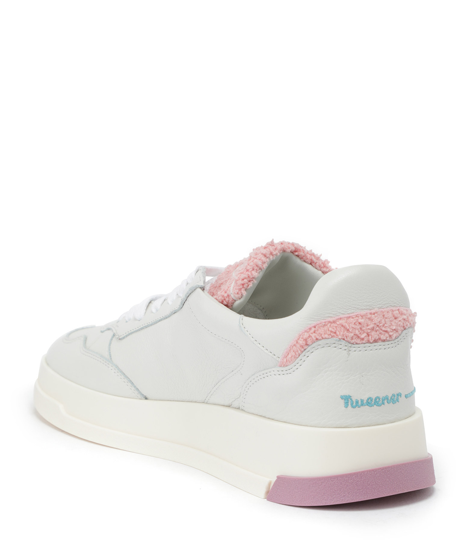 GHOUD VENICE - Baskets Tweener Low Cuir Blanc Rose
