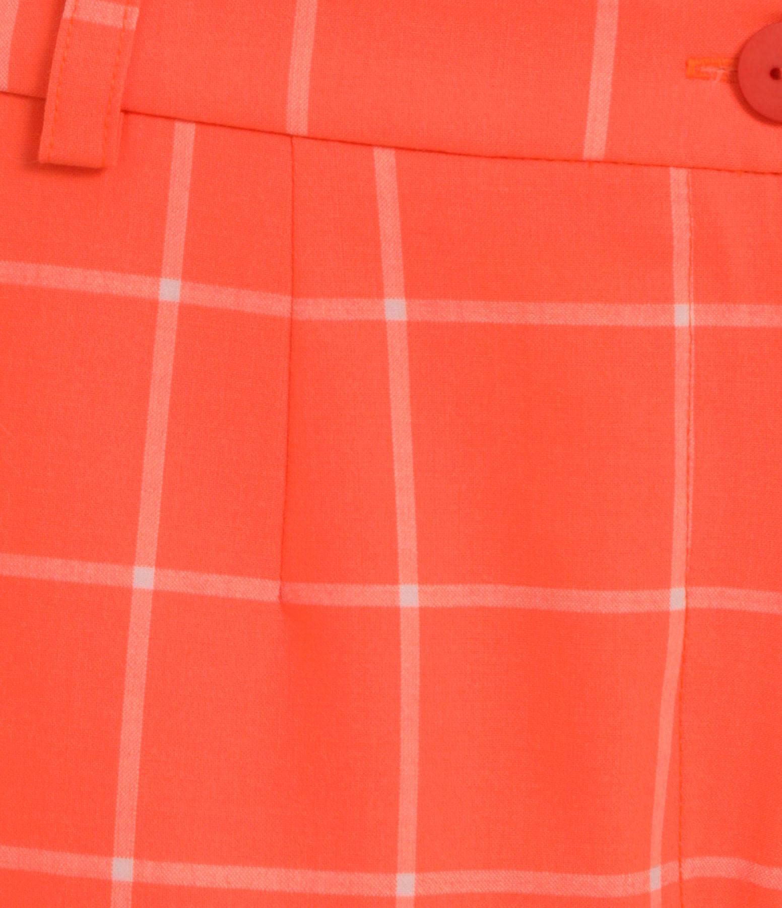 MODETROTTER - Short Lambert Laine Imprimé Camara Orange