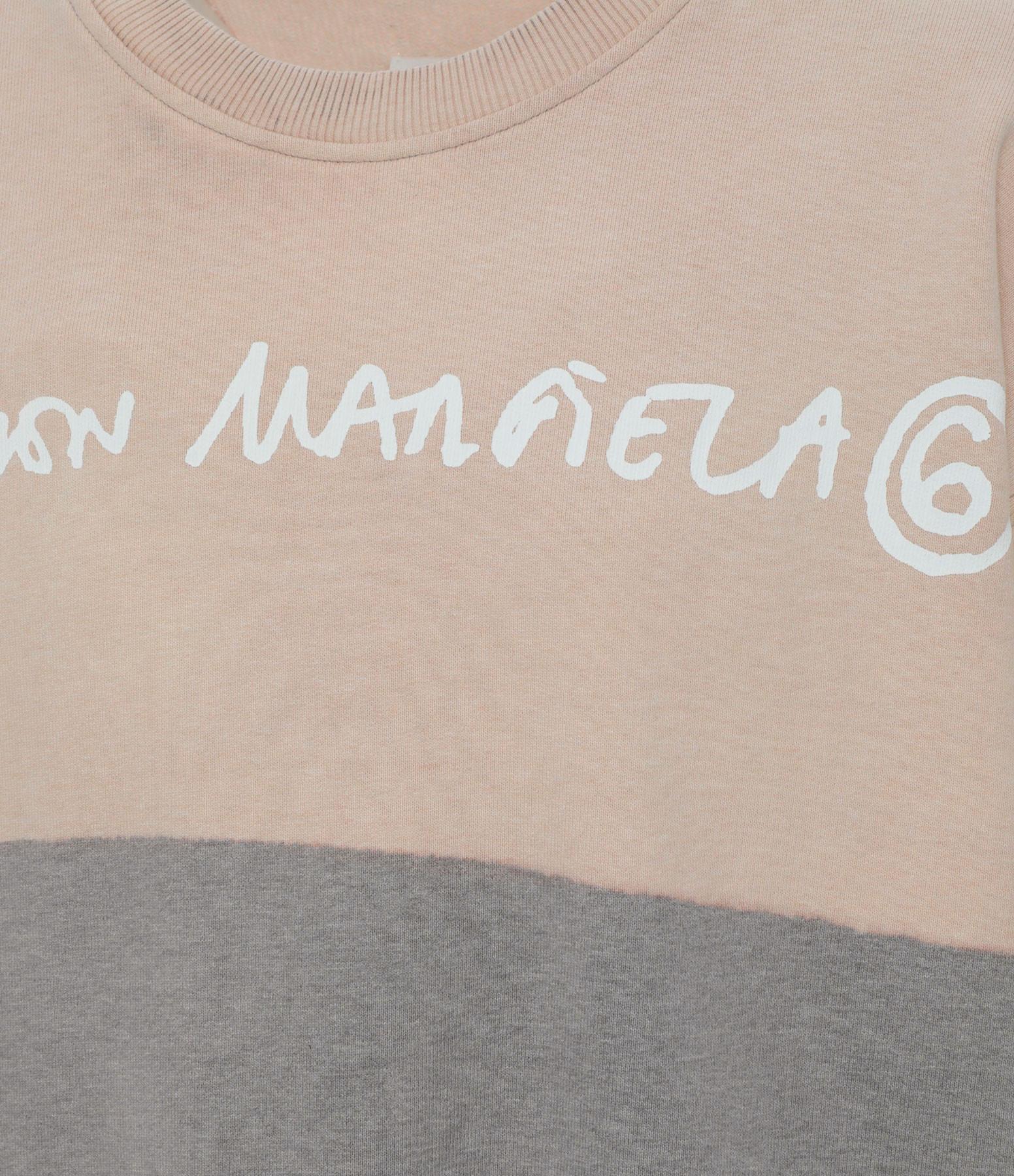 MM6 MAISON MARGIELA - Robe Sweatshirt Oversize Coton Gris, Collection Studio