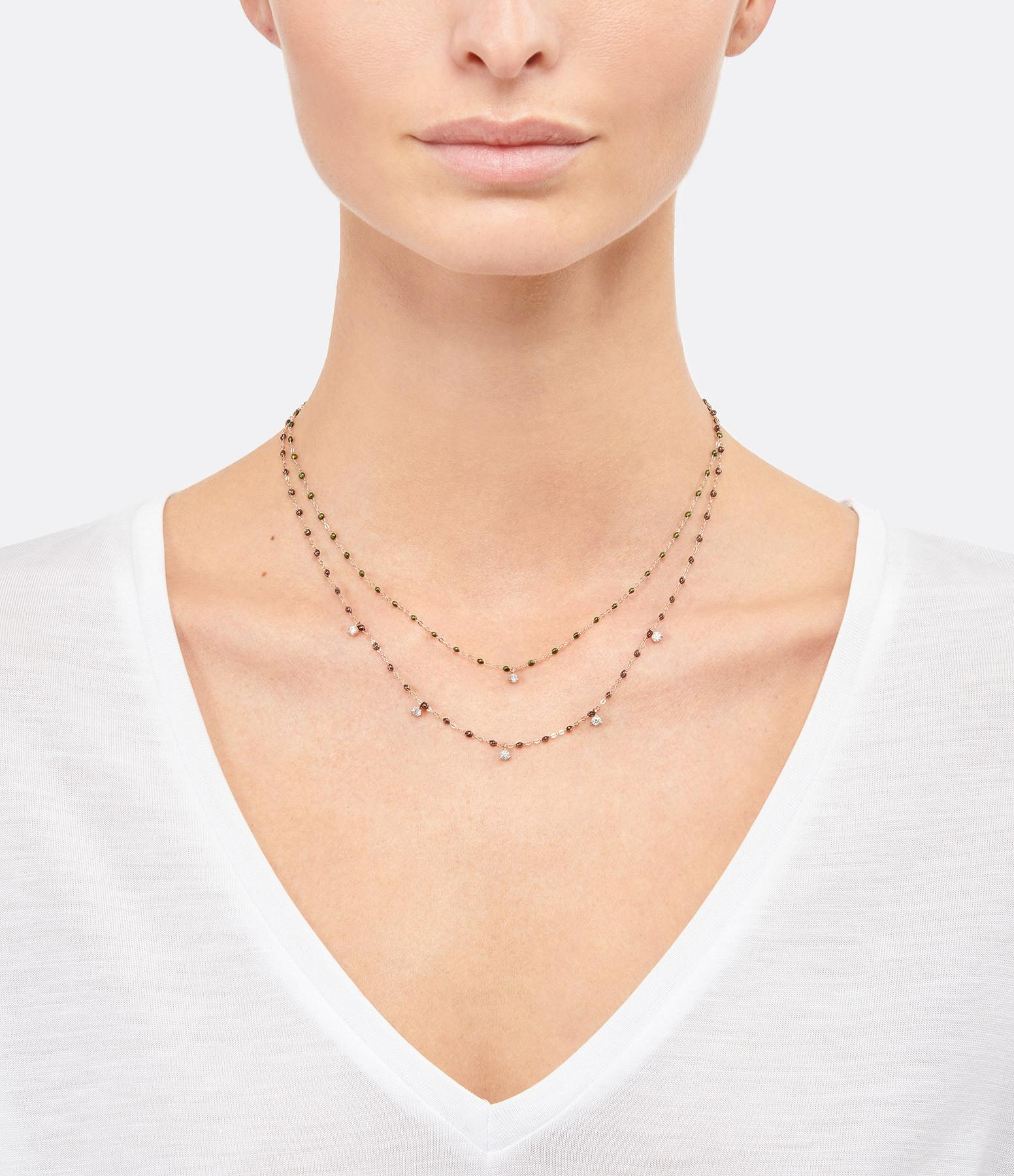 GIGI CLOZEAU - Collier résine Gigi Suprême 1 Diamant Or jaune
