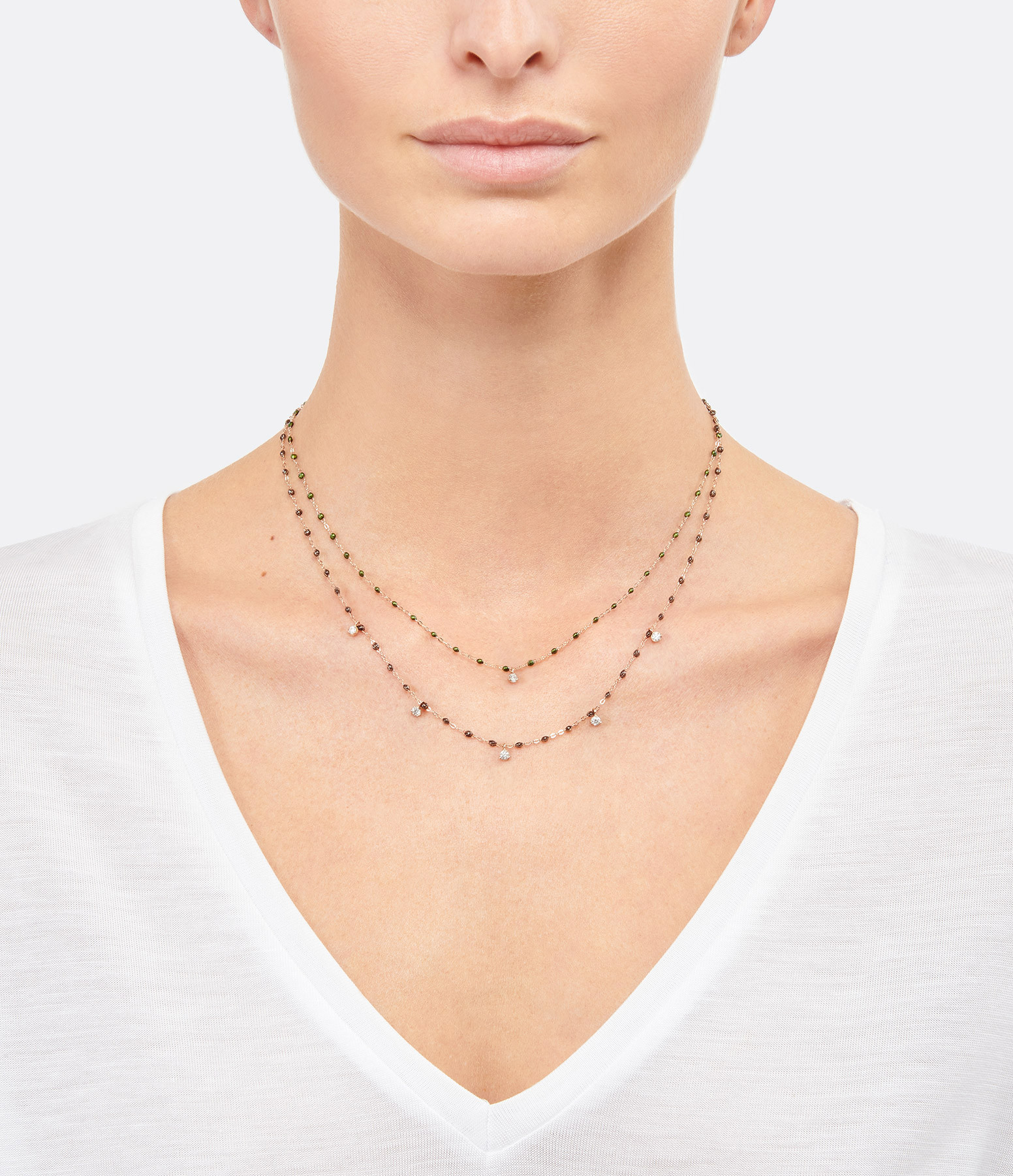 GIGI CLOZEAU - Collier résine Gigi Suprême 1 Diamant Or gris