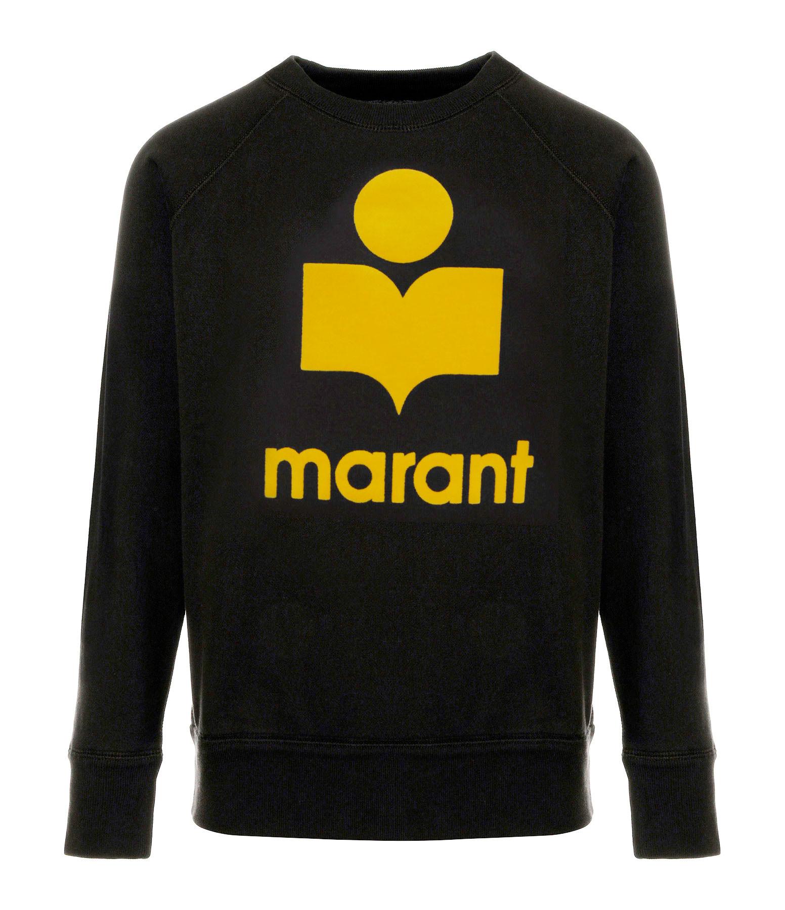 ISABEL MARANT ÉTOILE - Sweatshirt Milly Coton Jaune Noir Délavé