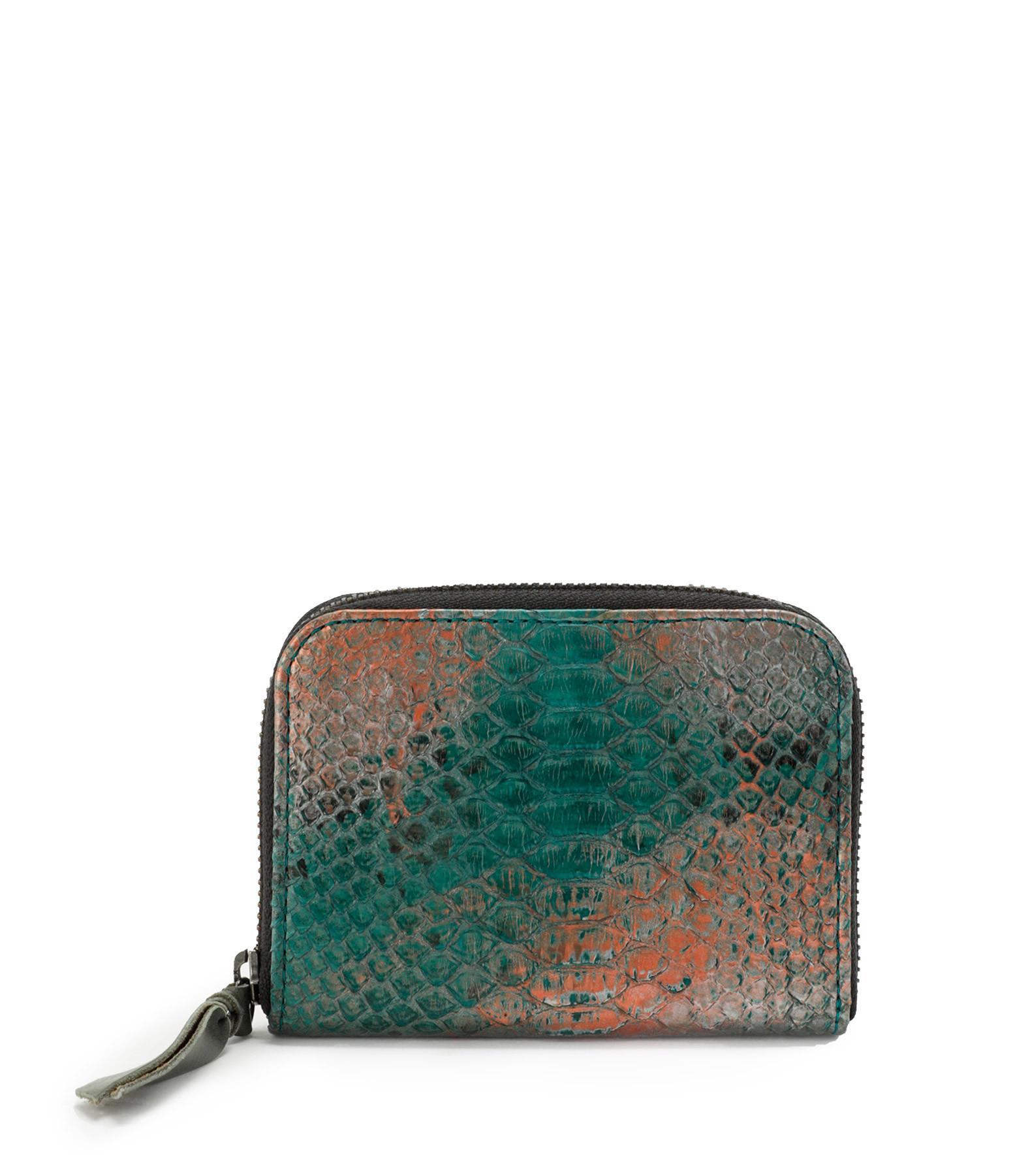 CLARIS VIROT - Porte-monnaie Mini Bob Python Aqua