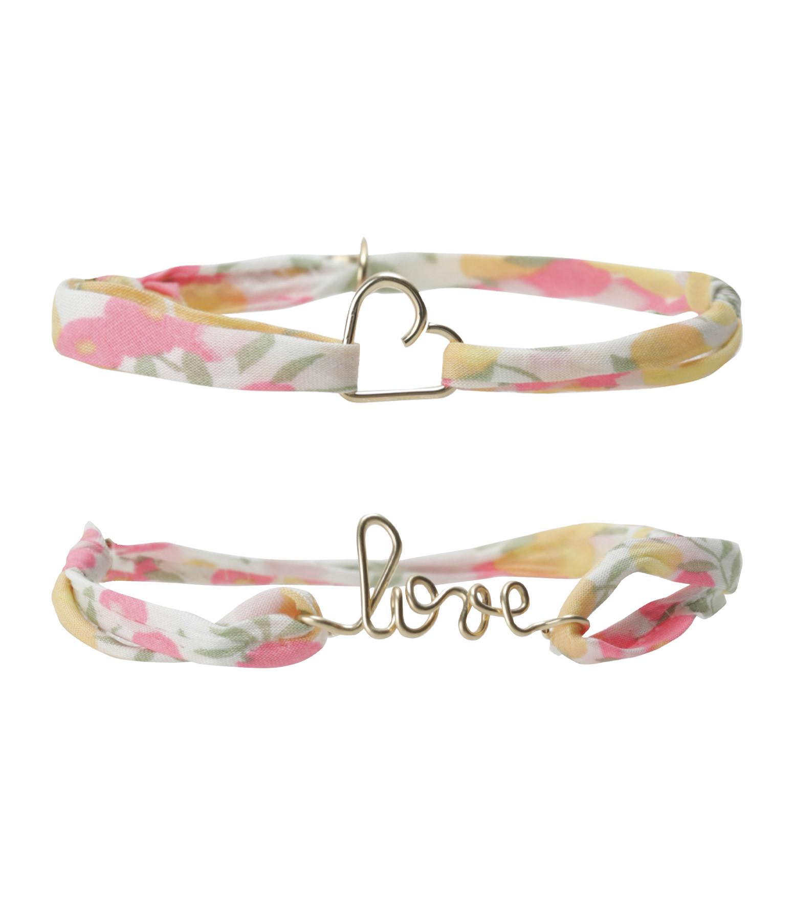 ATELIER PAULIN - Coffret Bracelets Mère Fille Coeur Love GF14K