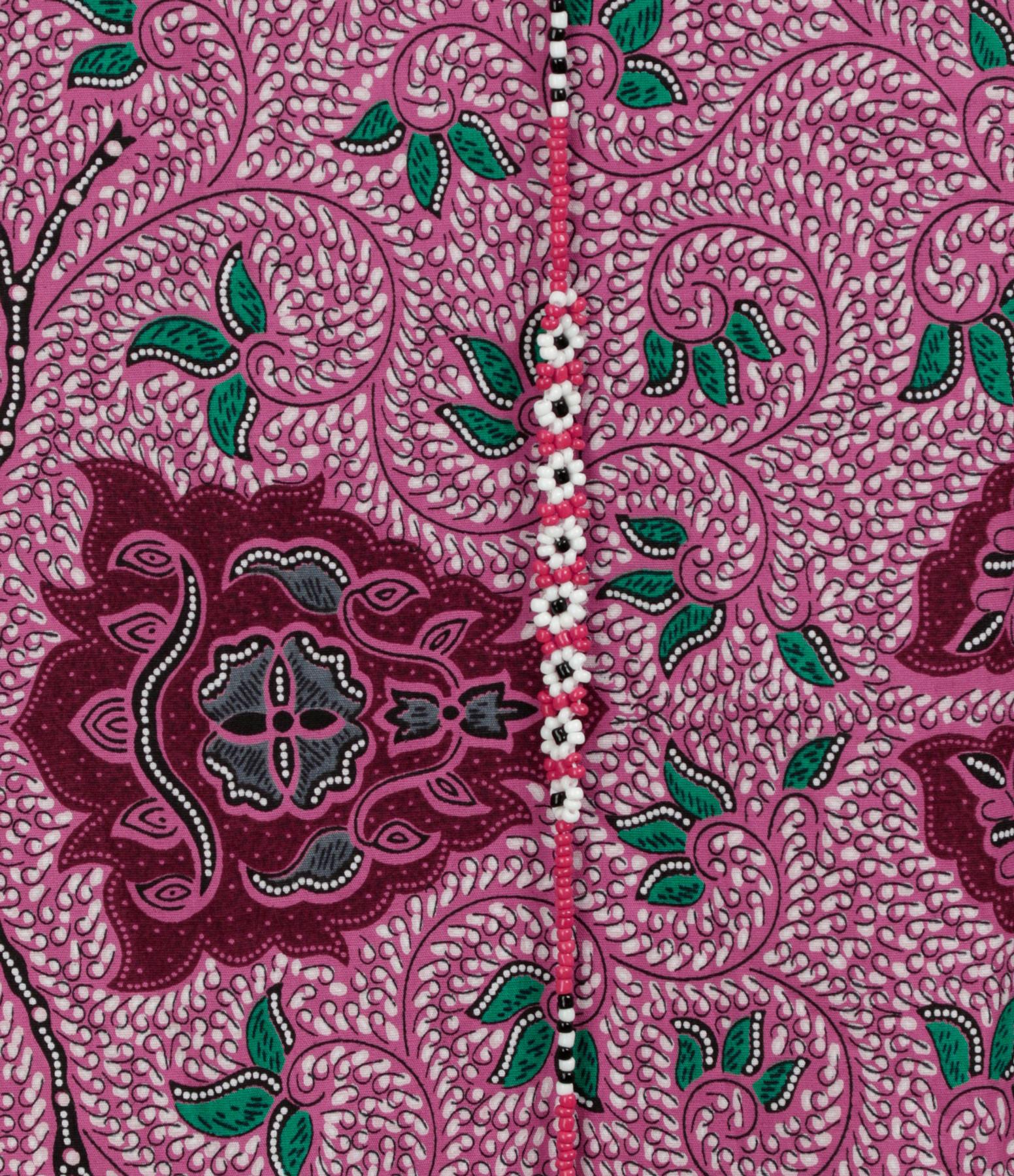 LES FÉLICITÉS - Blouse Batik Rose avec Collier, Collab' Lulli