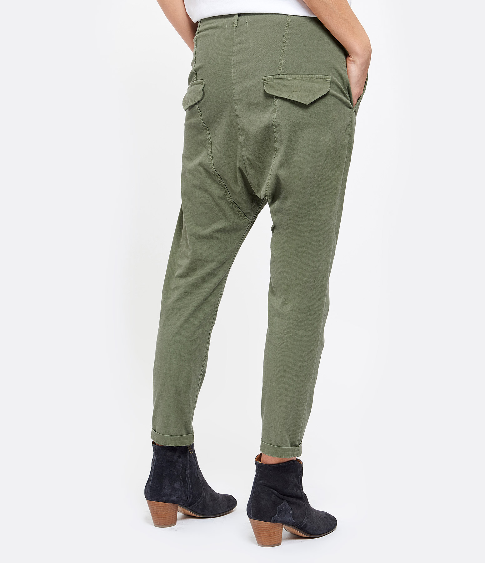 NILI LOTAN - Pantalon Paris Coton Camouflage