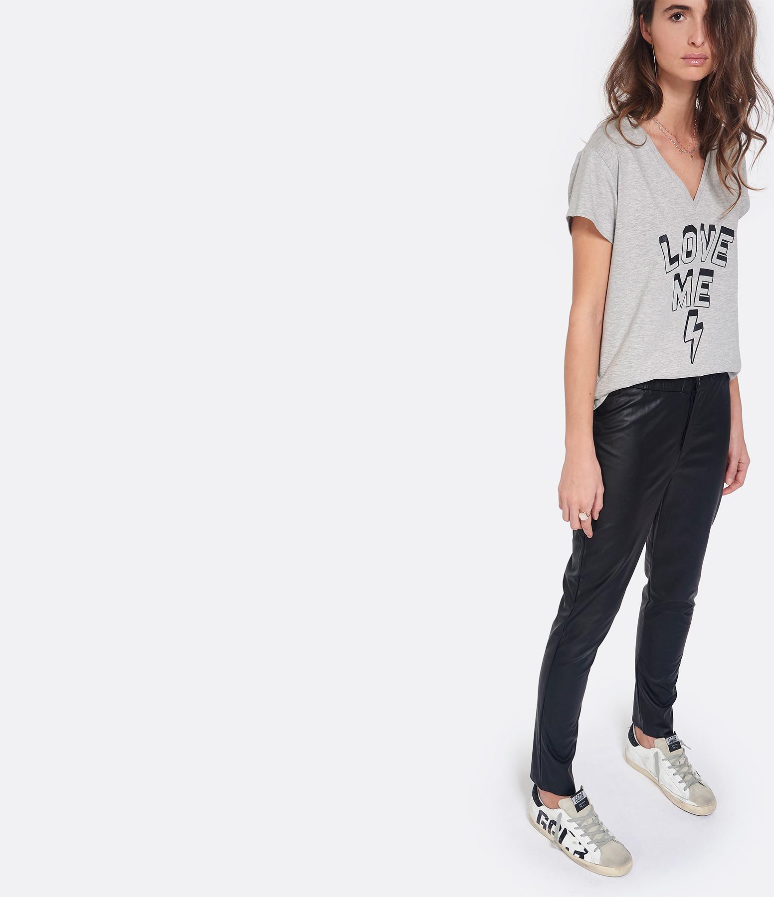 JEANNE VOULAND - Pantalon Cami Simili Cuir Noir