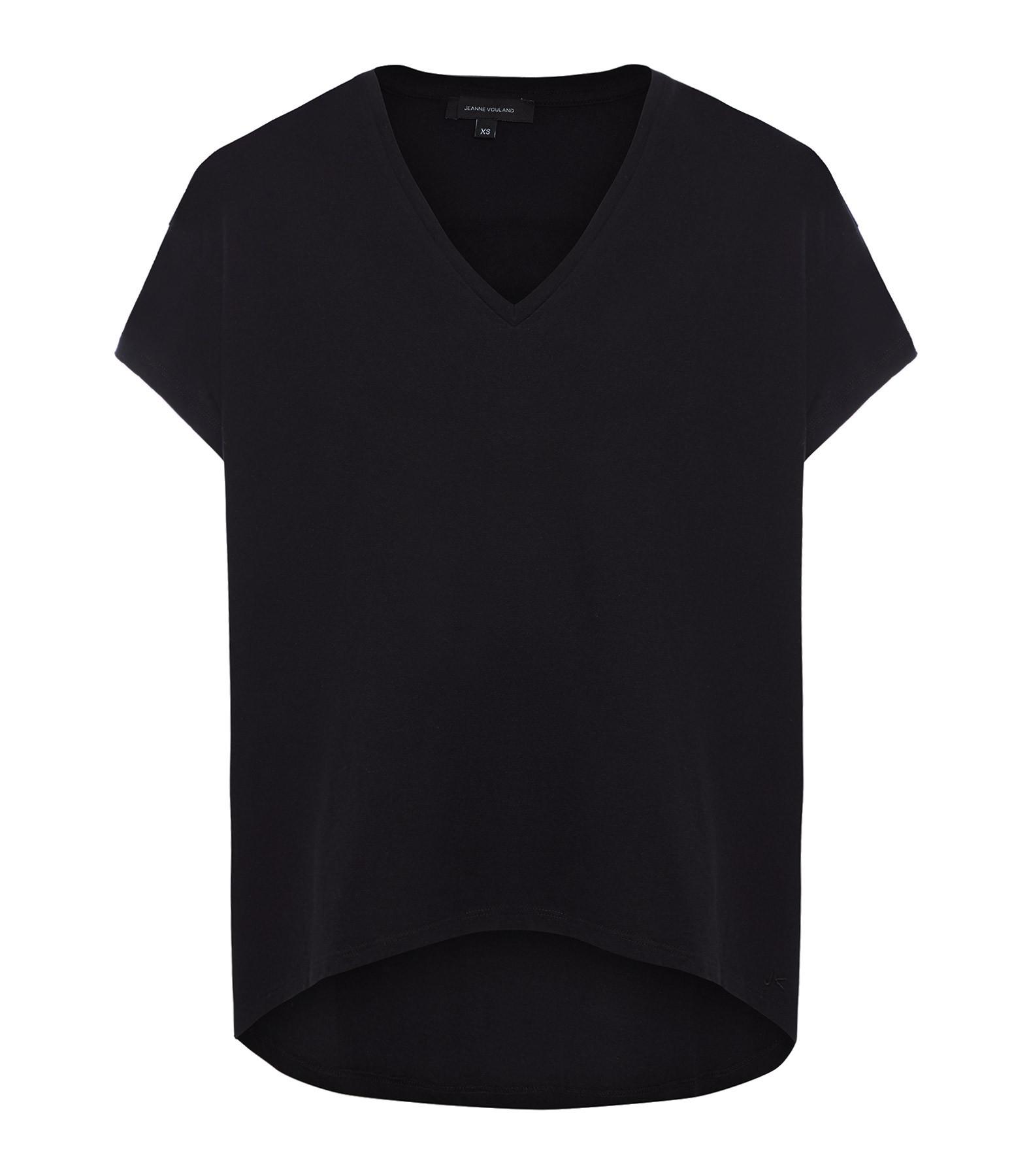 JEANNE VOULAND - Tee-shirt Bacha Coton Lin Noir