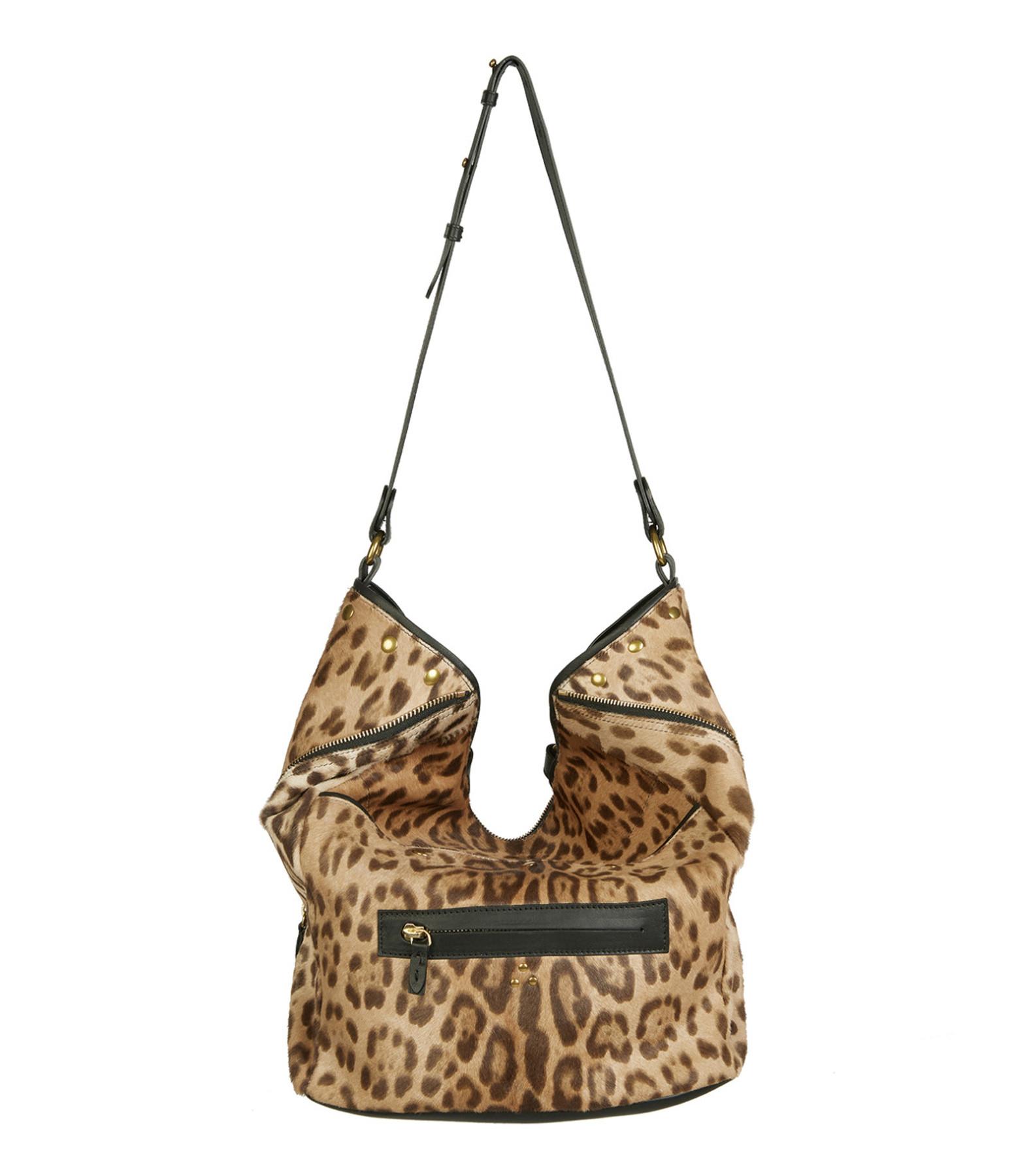 JEROME DREYFUSS - Sac Serge Veau Agneau Chèvre Leopard Sauvage