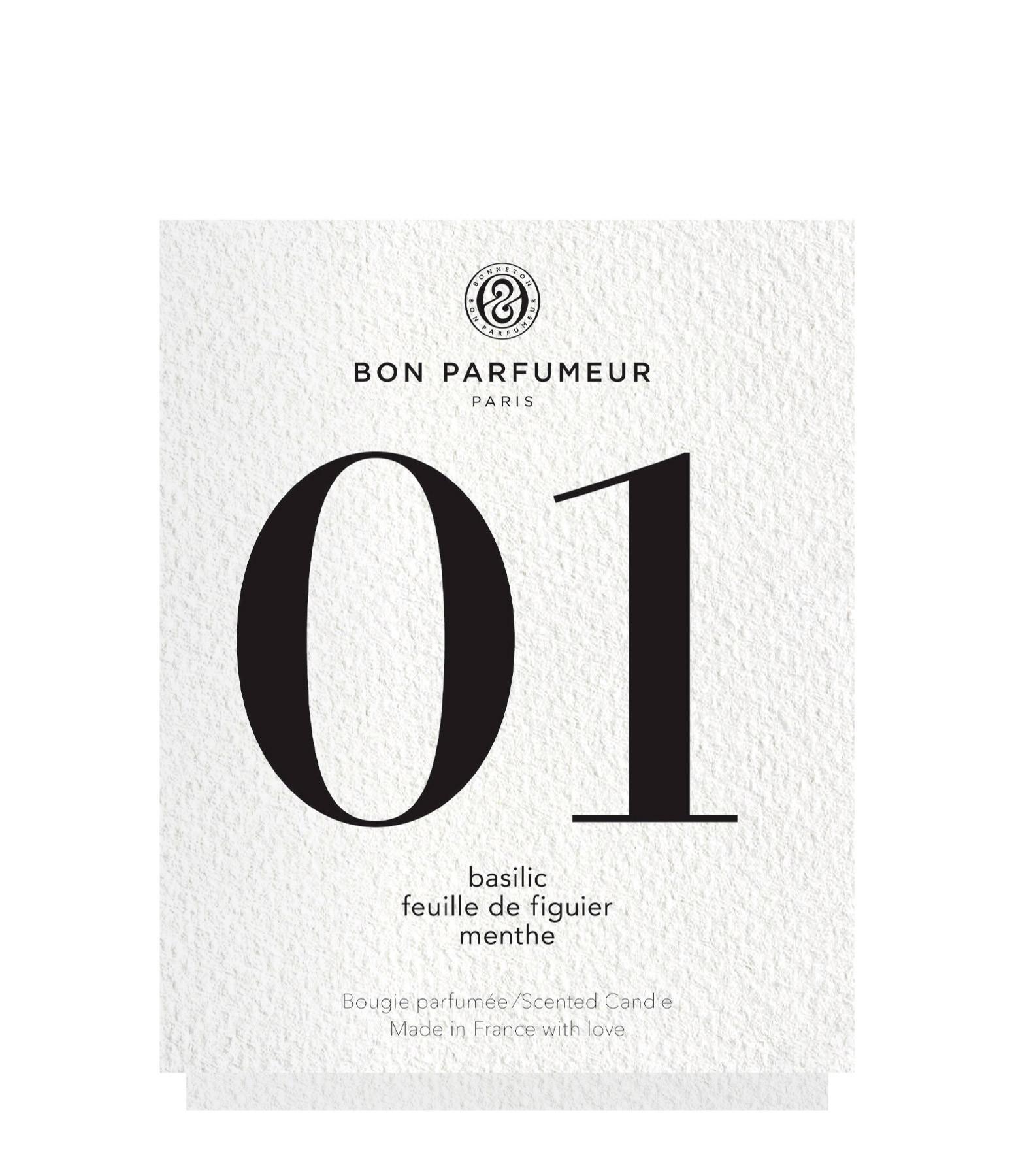 BON PARFUMEUR - Bougie #01 Basilic, Feuille de Figuier, Menthe