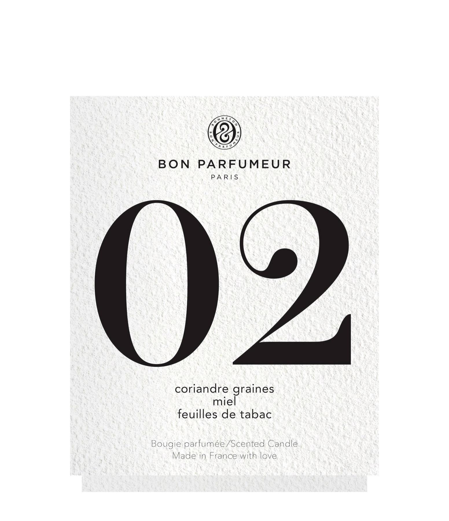 BON PARFUMEUR - Bougie #02 Graine de coriandre, Miel, Feuille de Tabac