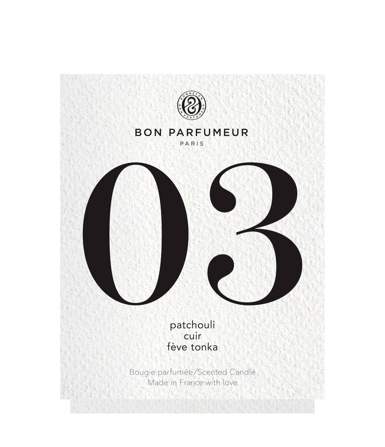 BON PARFUMEUR - Bougie #03 Patchouli, Cuir, Fève Tonka