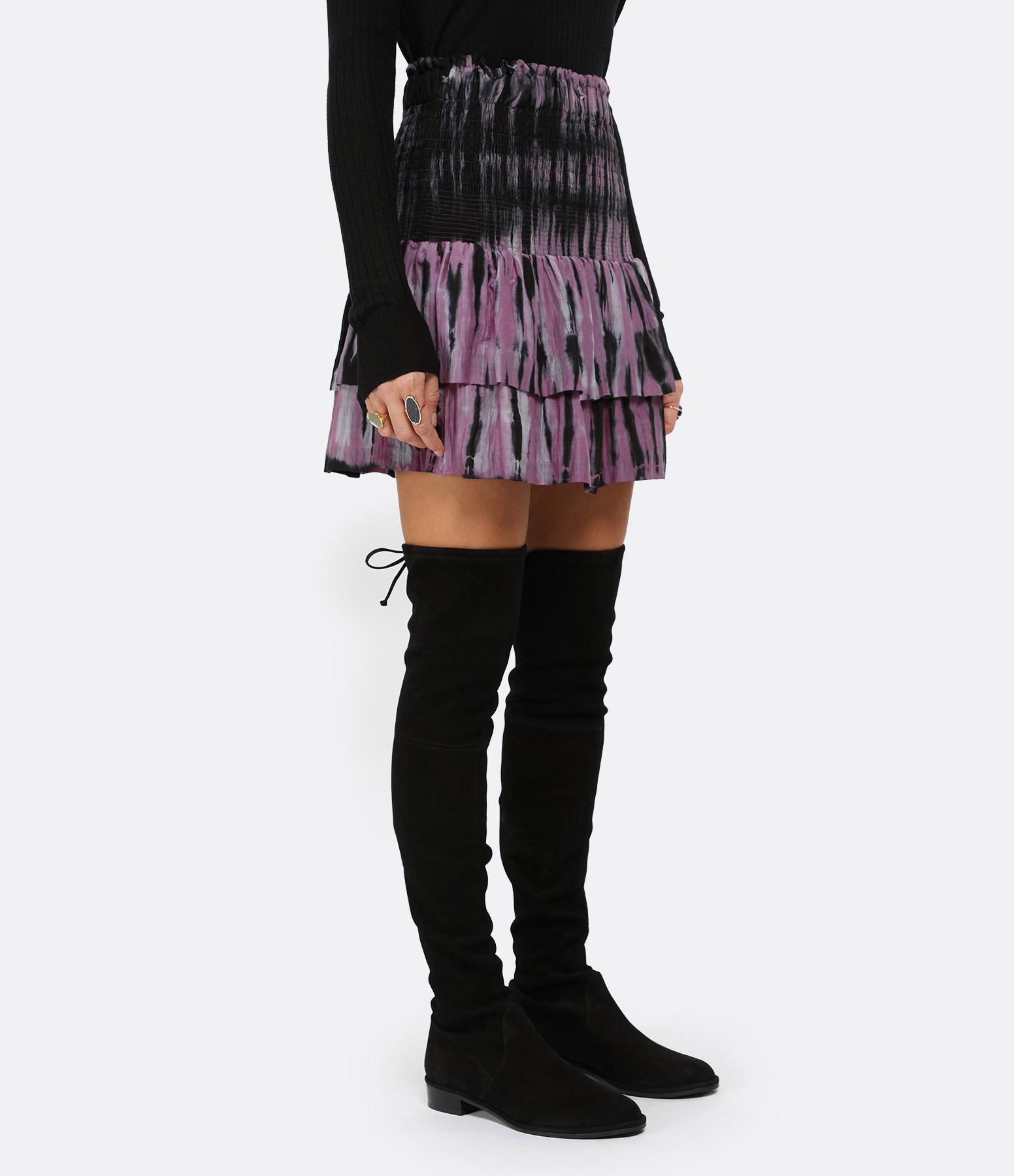 ROUGH STUDIOS - Jupe Hollis Coton Noir Violet