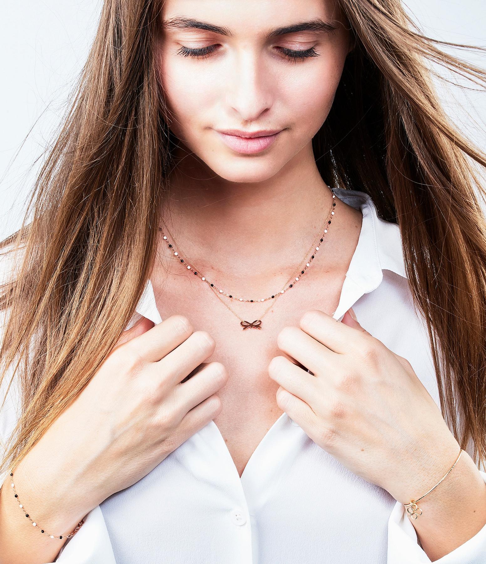 GIGI CLOZEAU - Collier Exclusivité Lulli Perles Résine Noir Blanc Or Rose