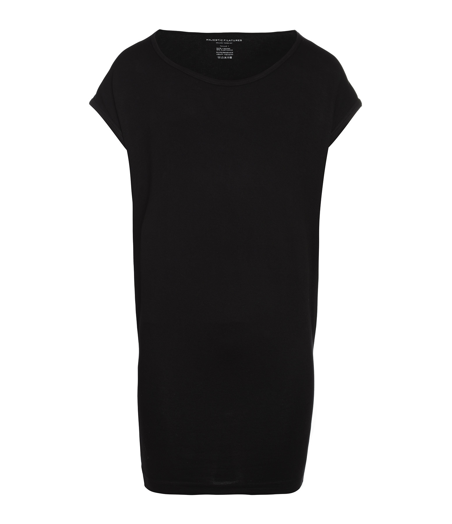 MAJESTIC FILATURES - Robe Col Rond Noir