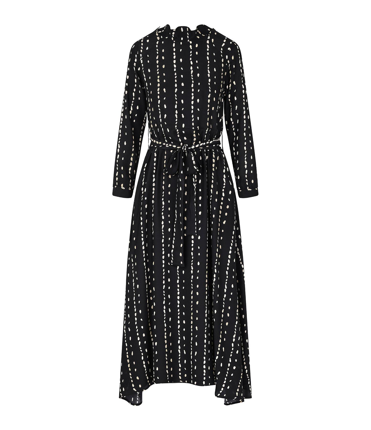 BELLE PIÈCE - Robe Charlie Soie Imprimé Noir