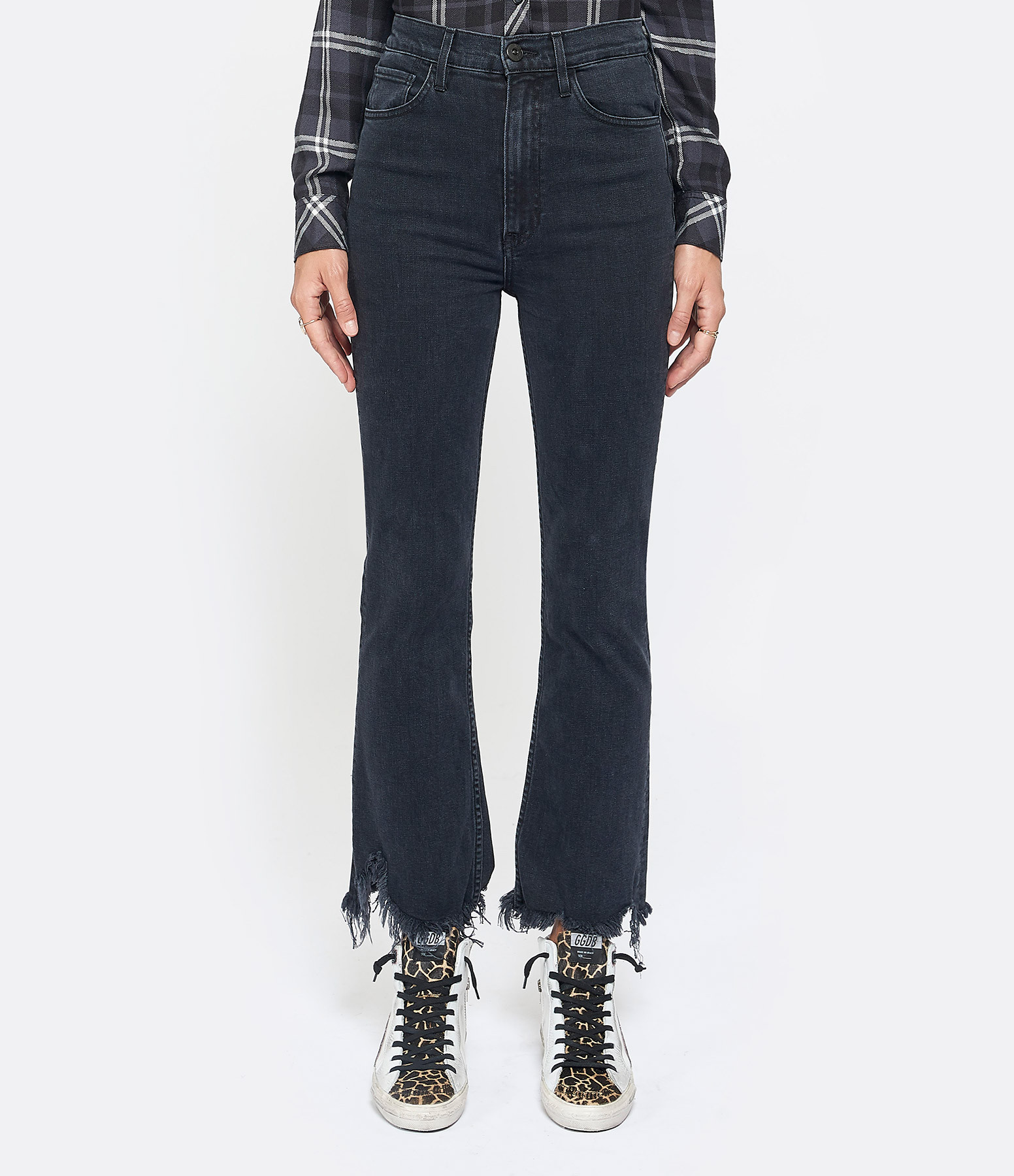 3x1 - Jean Empire Crop Flare Denim Starling