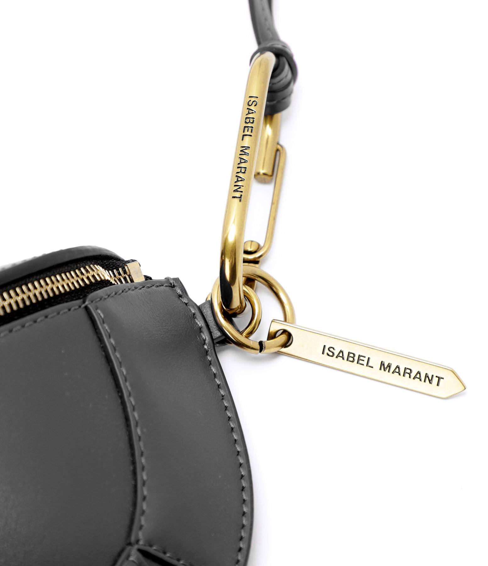 ISABEL MARANT - Pochette Bossey Cuir Noir