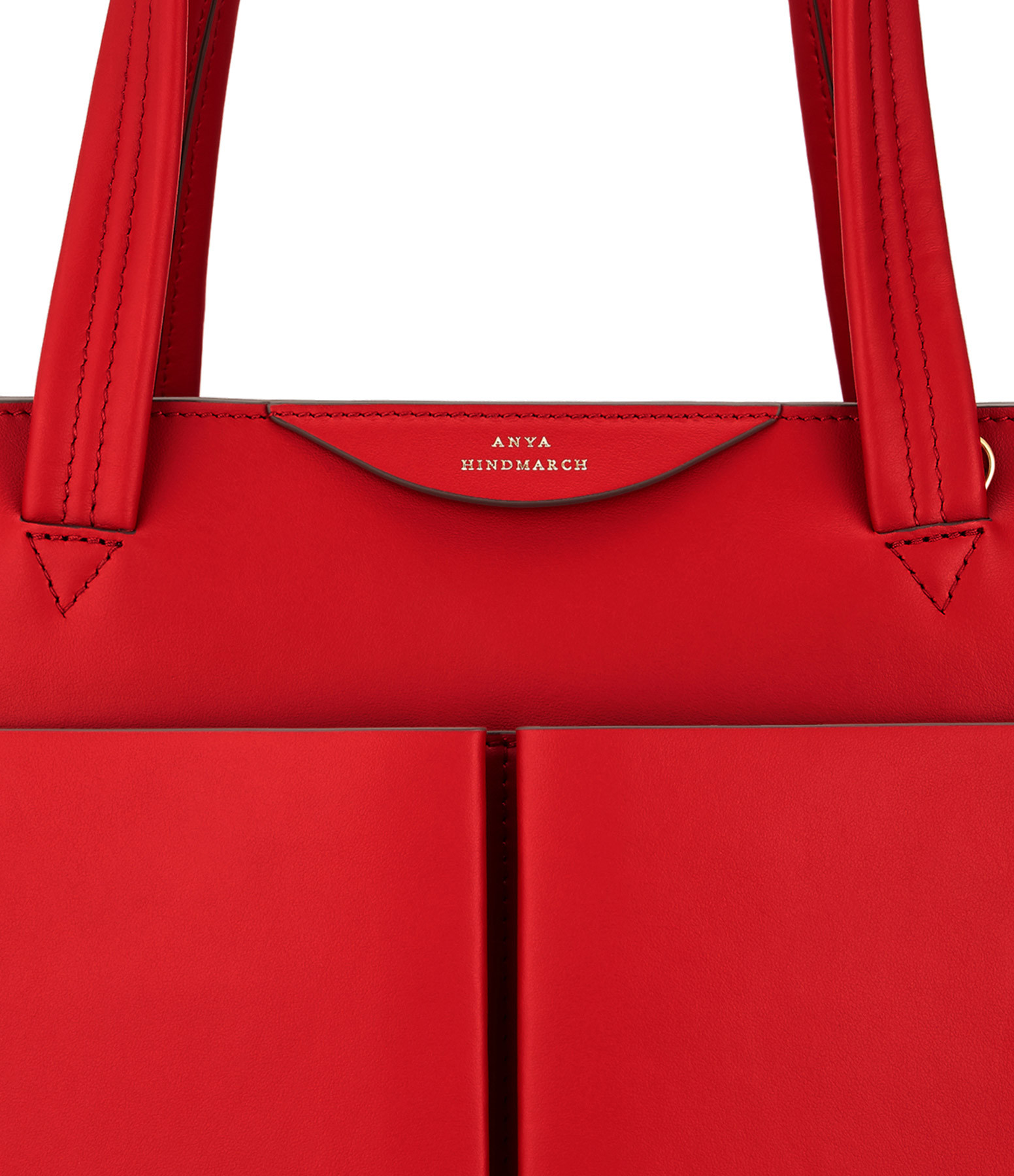 ANYA HINDMARCH - Sac Nevis Rouge Flamme Brillant