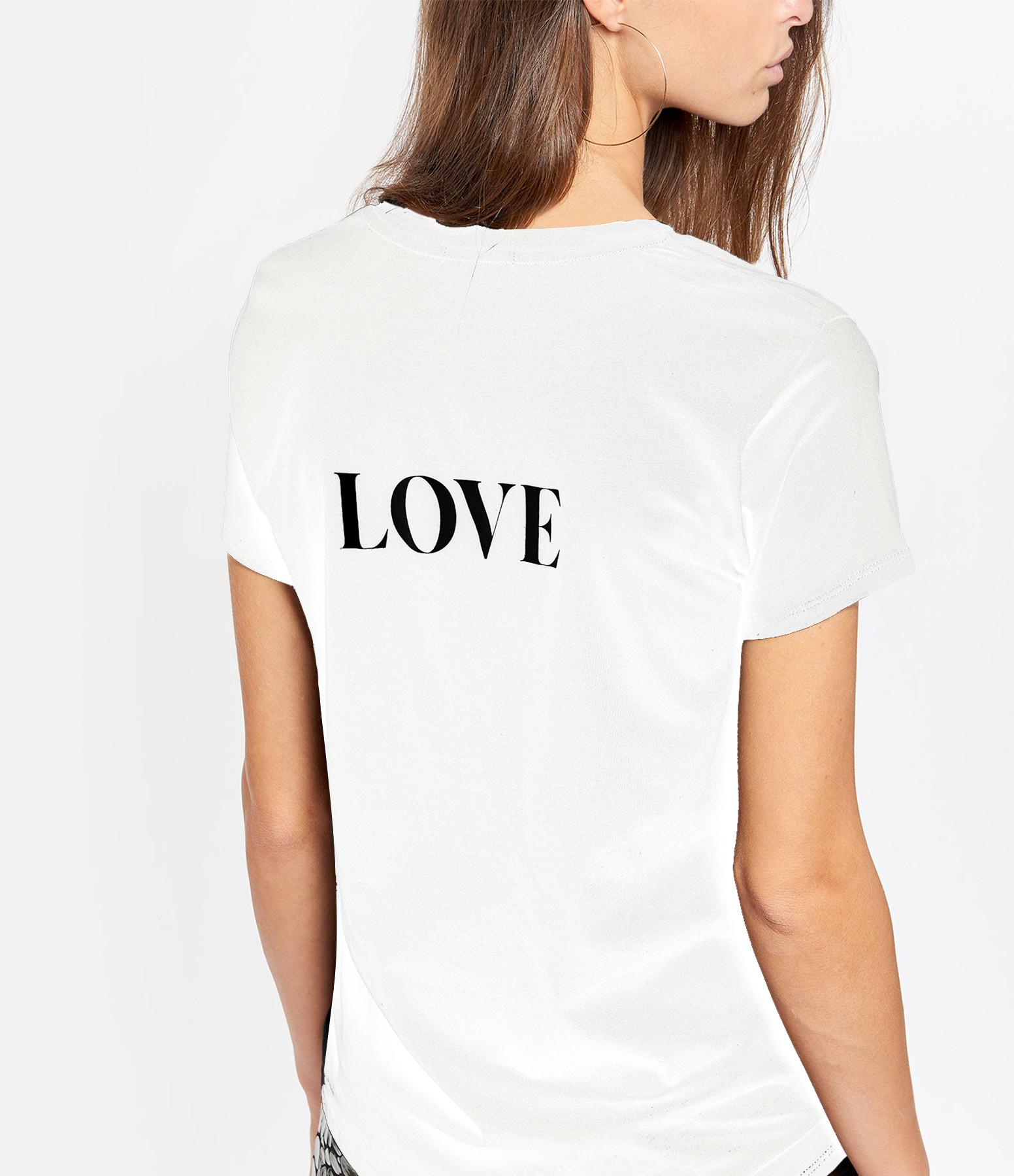 JEANNE VOULAND - Tee-shirt Cris Rock Love Coton Blanc