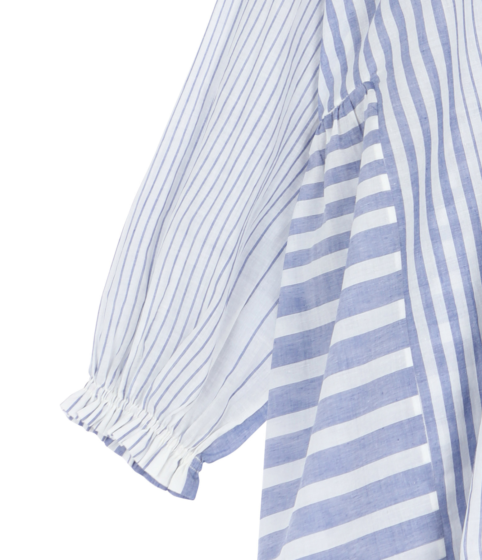 MII - Chemise Oversize Lulu Coton Rayures Bleu