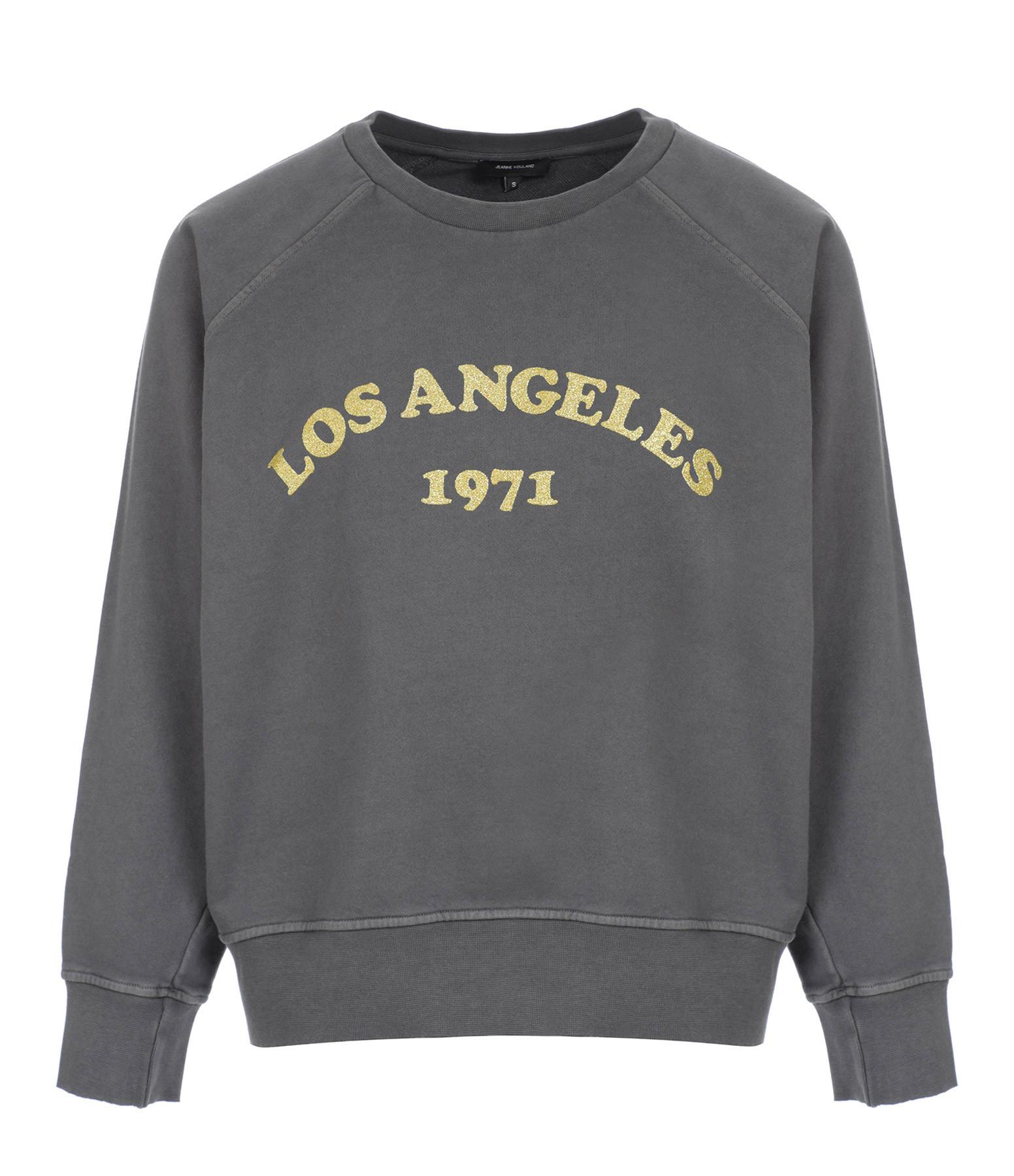 JEANNE VOULAND - Sweatshirt Fail Los Angeles Glitter Gris