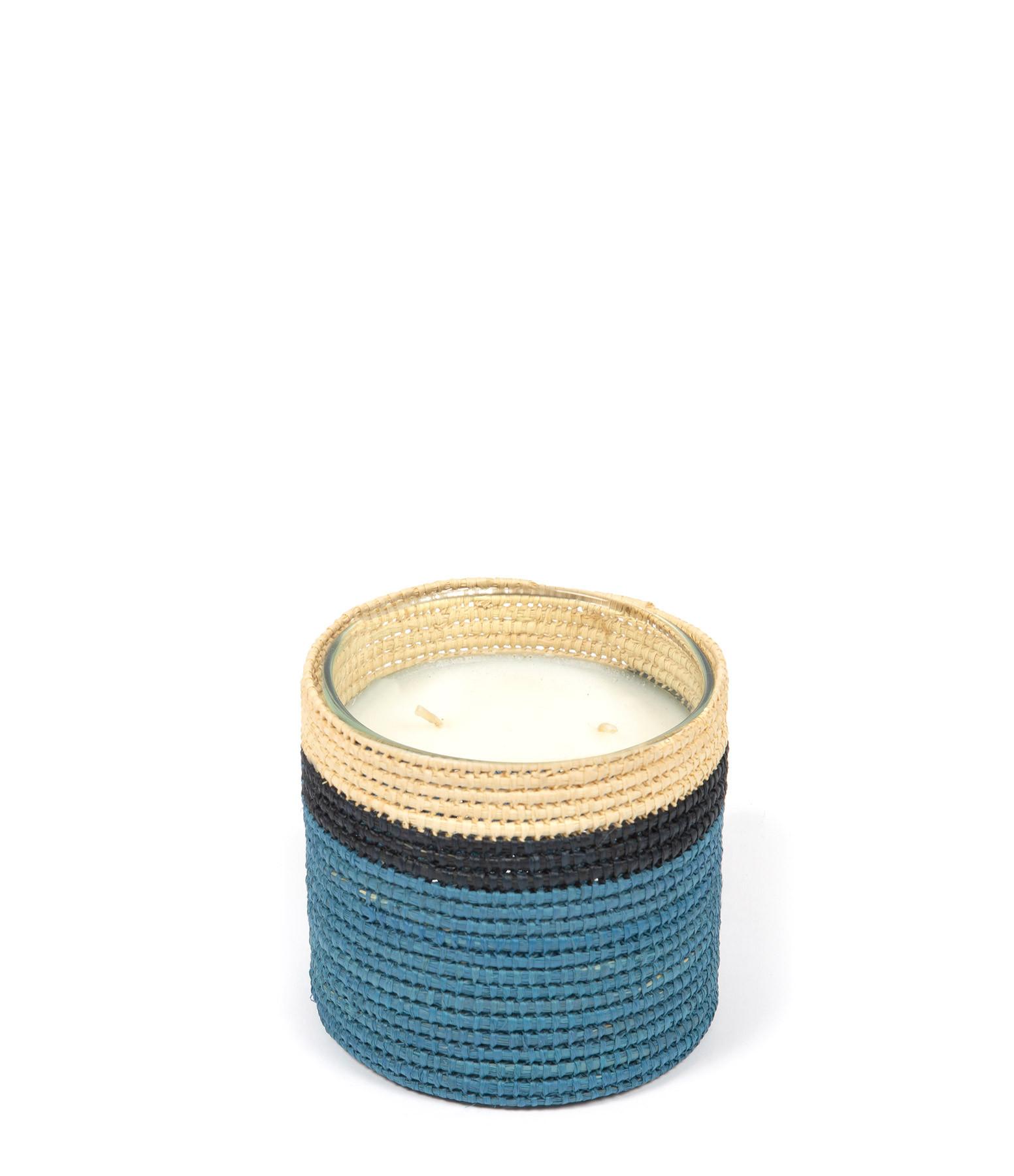 MAISON SARAH LAVOINE - Bougie Farniente Bleu H10 cm